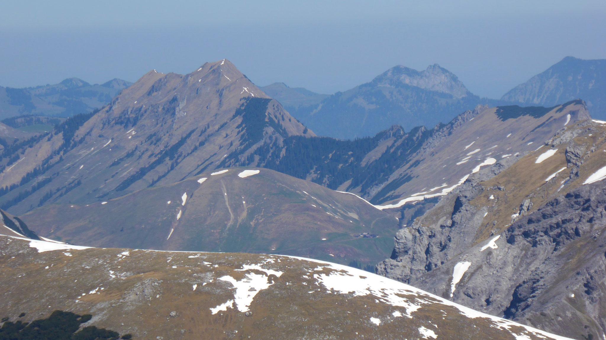 Schleimsjoch vor Schreckenspitze vor Roß- & Buchstein