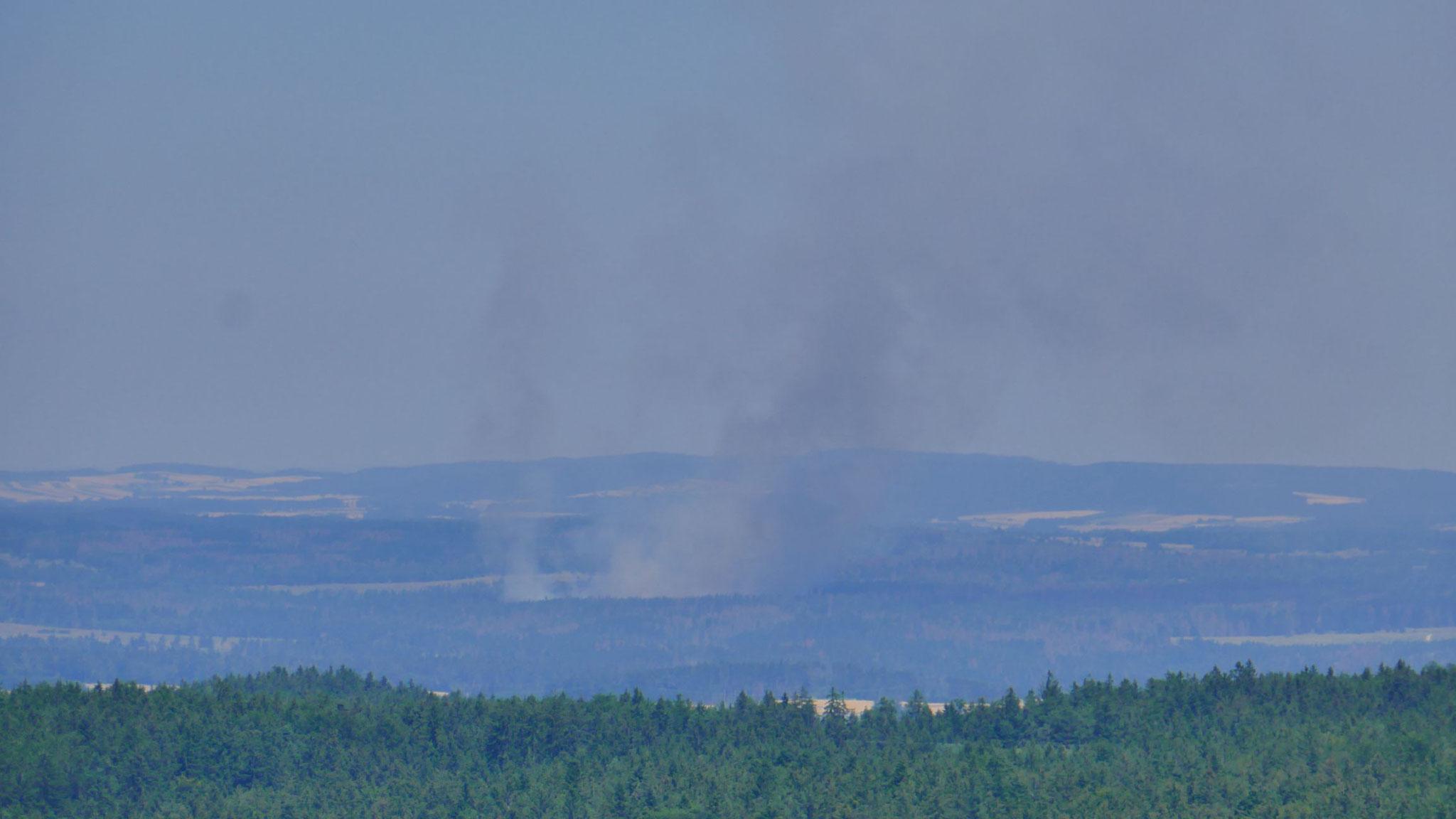 Waldbrände am Truppenübungsplatz Allentsteig