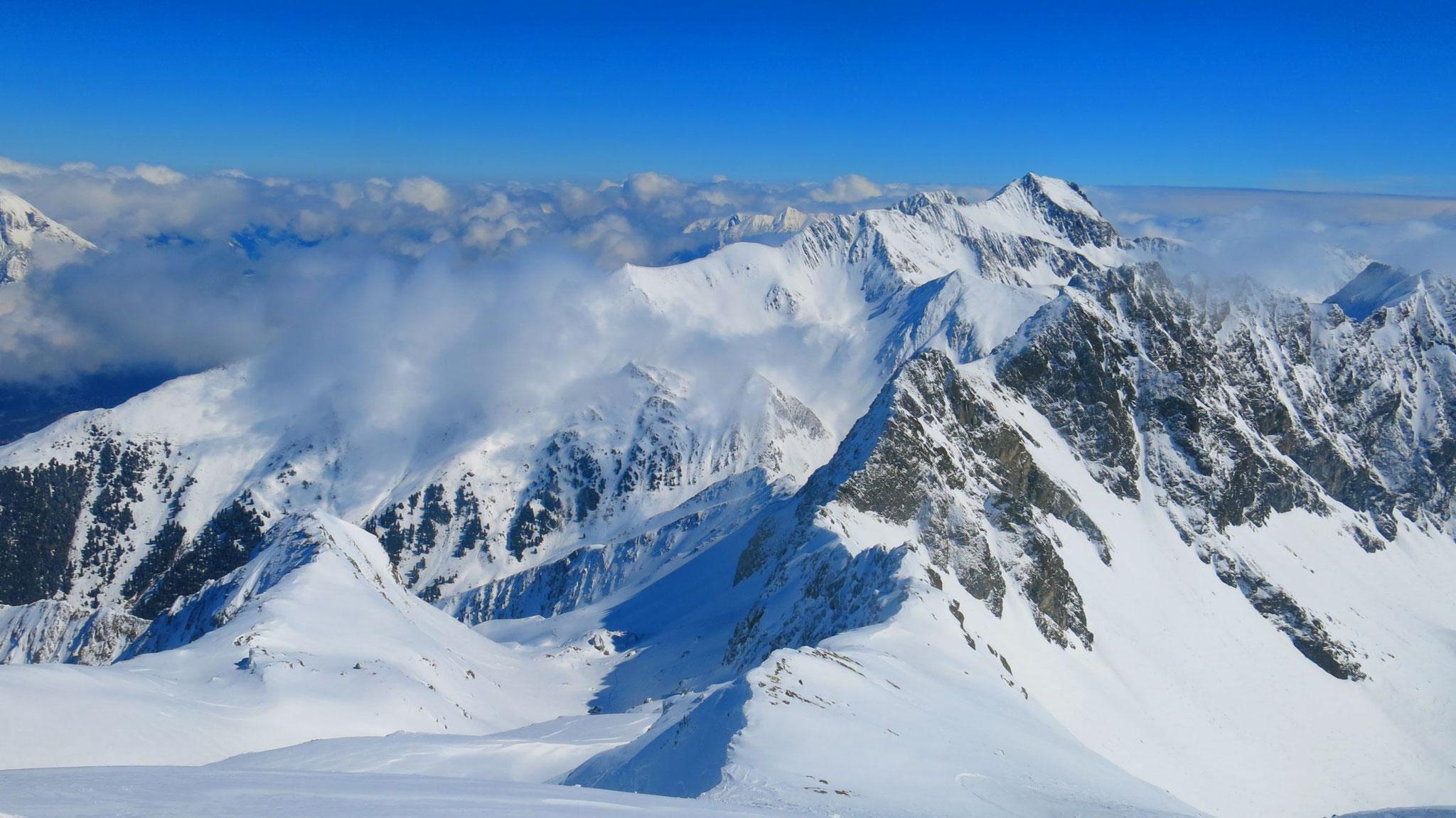 Nordabfahrt durchs Schneetal