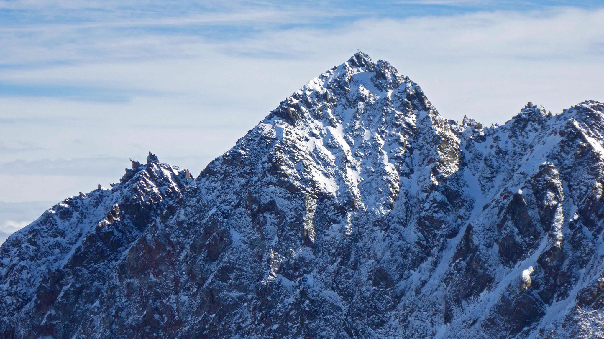 Rotgrubenspitz Detail, rechts vom Gipfel die anspruchsvolle Kletterkante