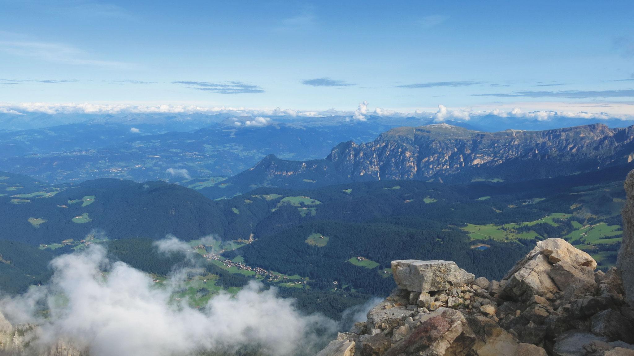 Schlern und Sarntaler Alpen im Norden