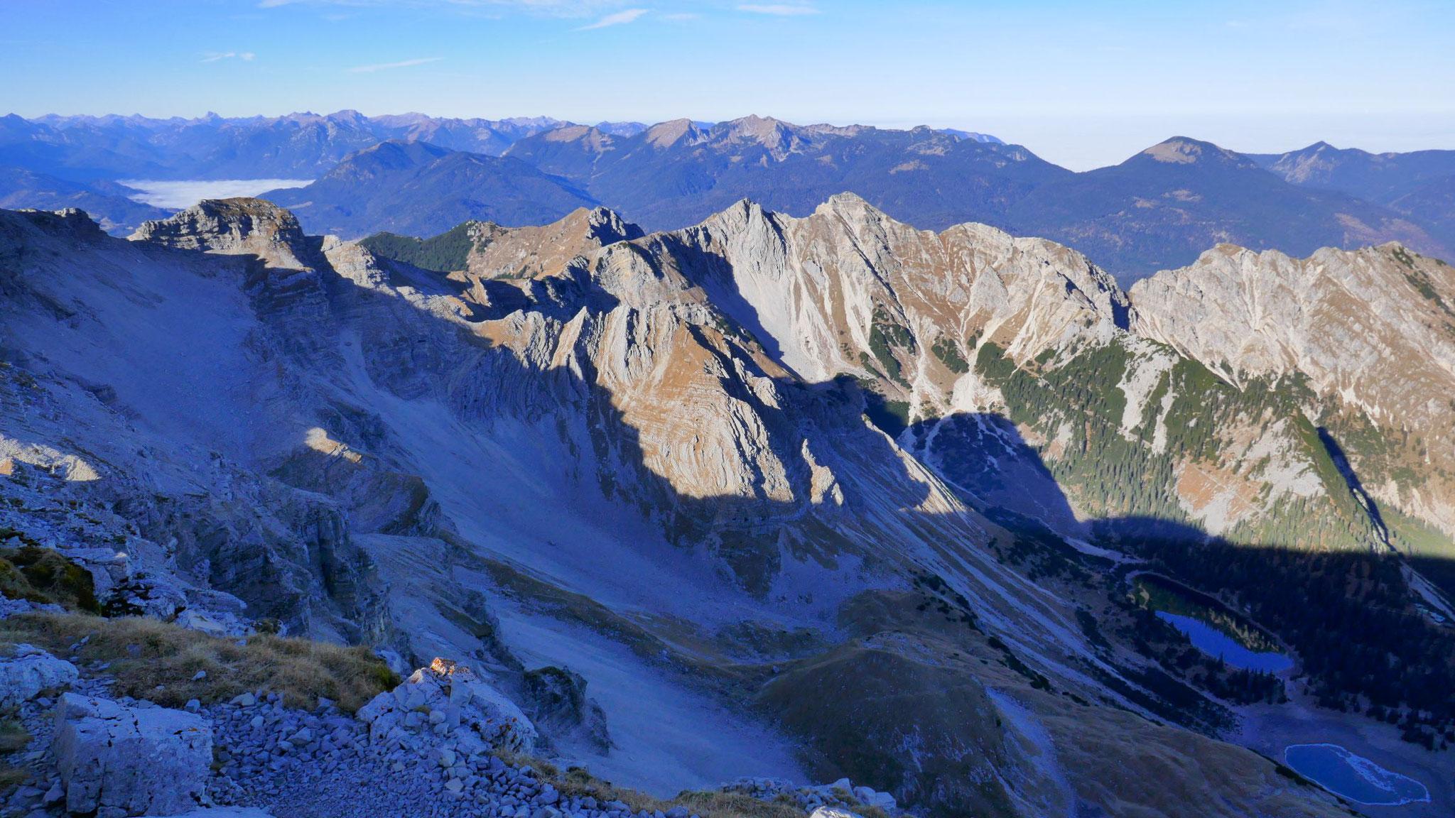 Über den Soiernkessel ins Estergebirge und Ammergauer Alpen