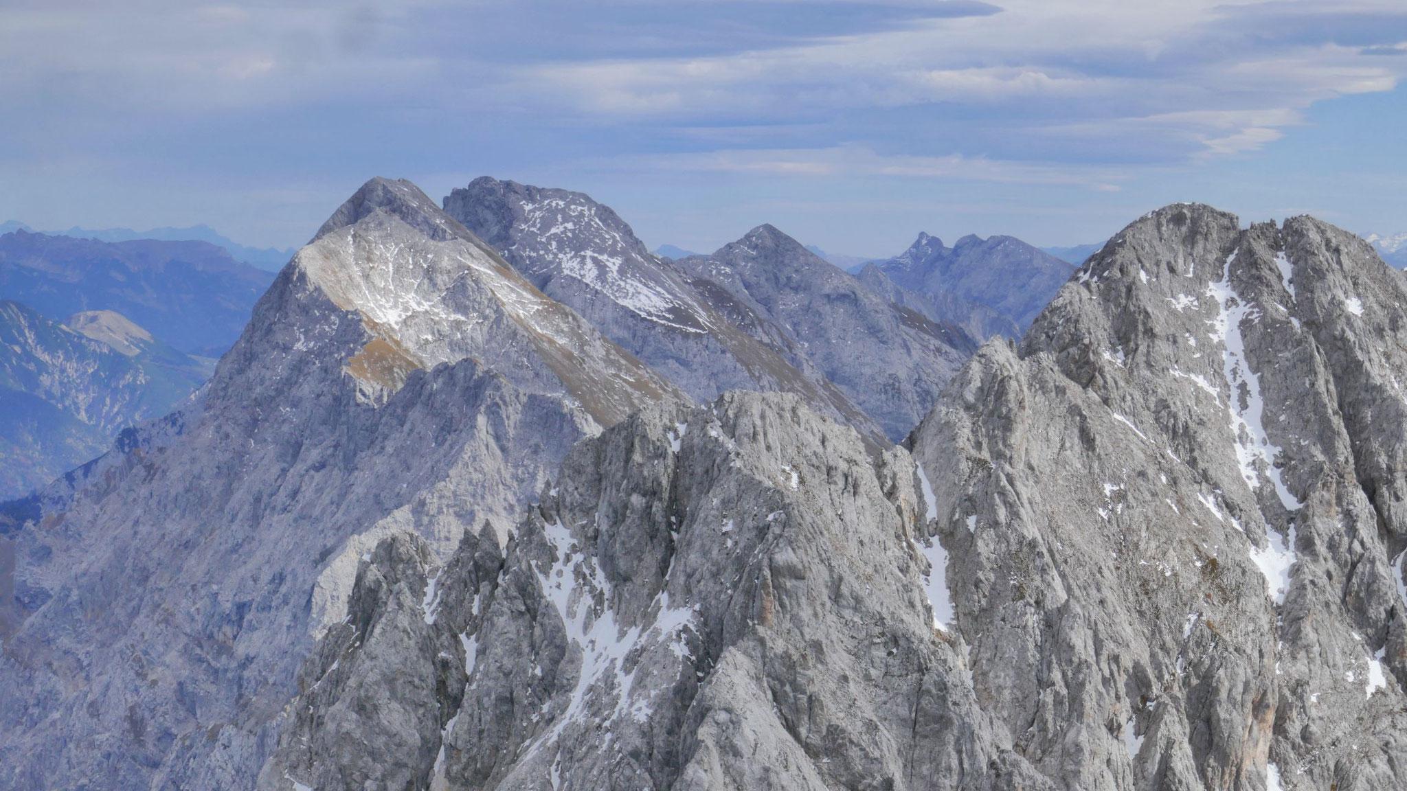 Nördliche Karwendelkette Richtung Osten