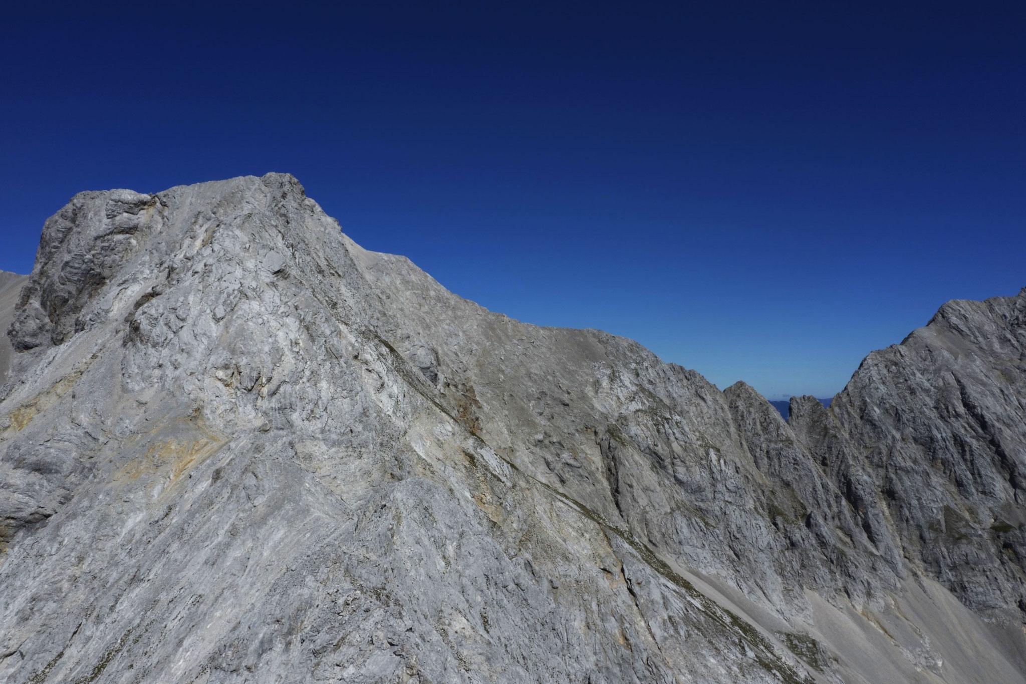 Süd- und Ostgrat Eiskarlspitze, rechts die Hochglückscharten