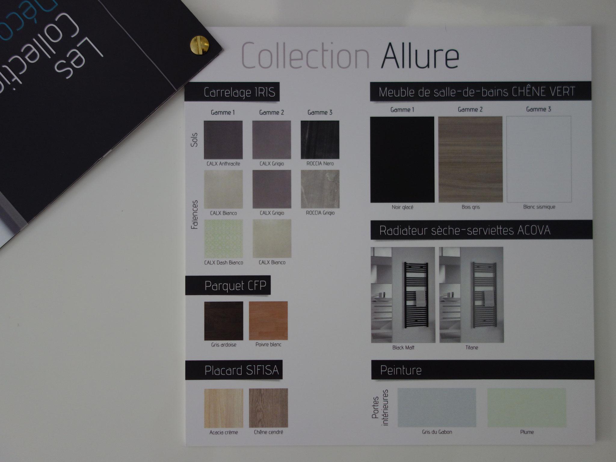 Choix des matériaux et des couleur par tendance.