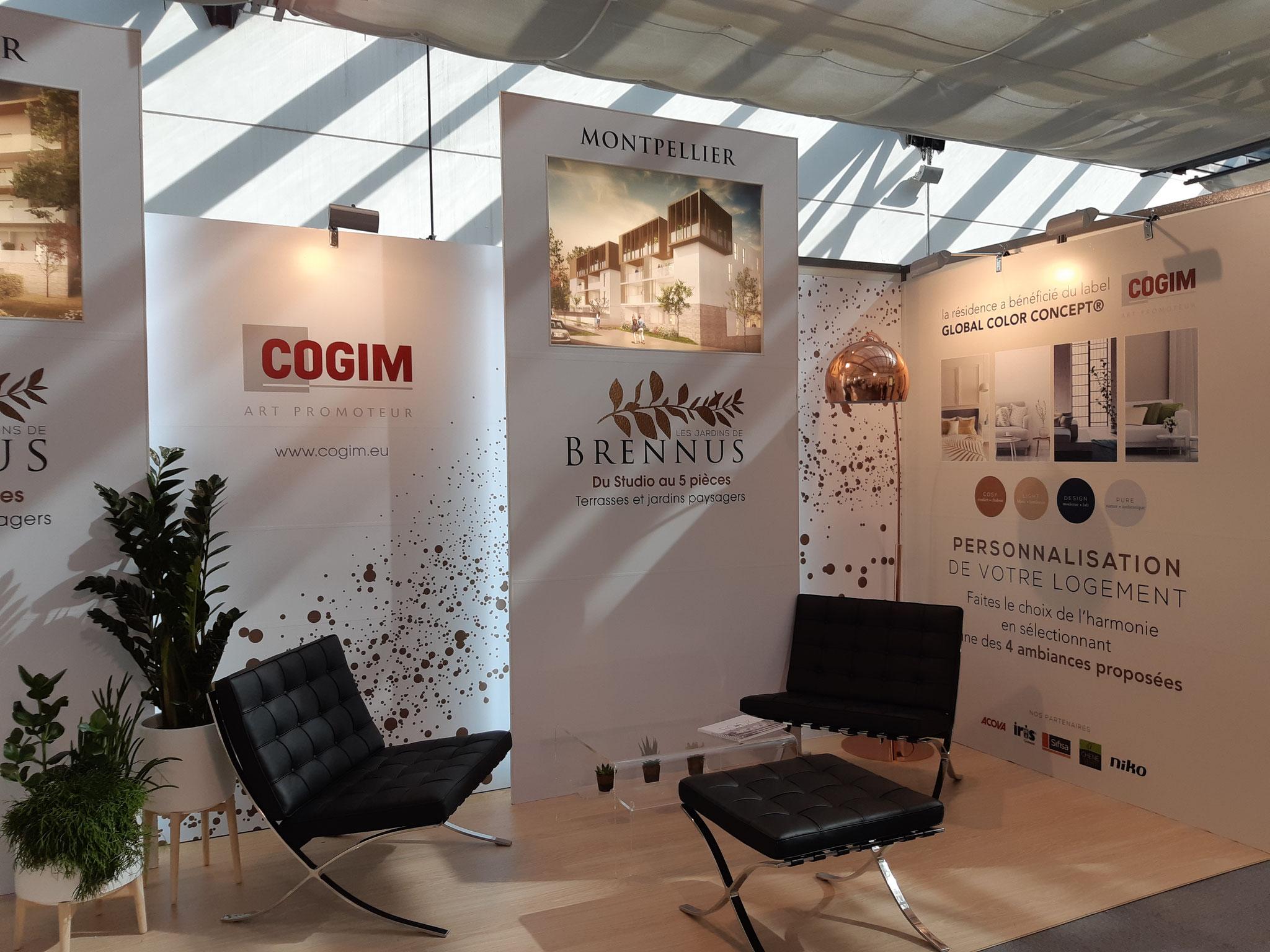 Stand COGIM au salon de l'immobilier à Montpellier
