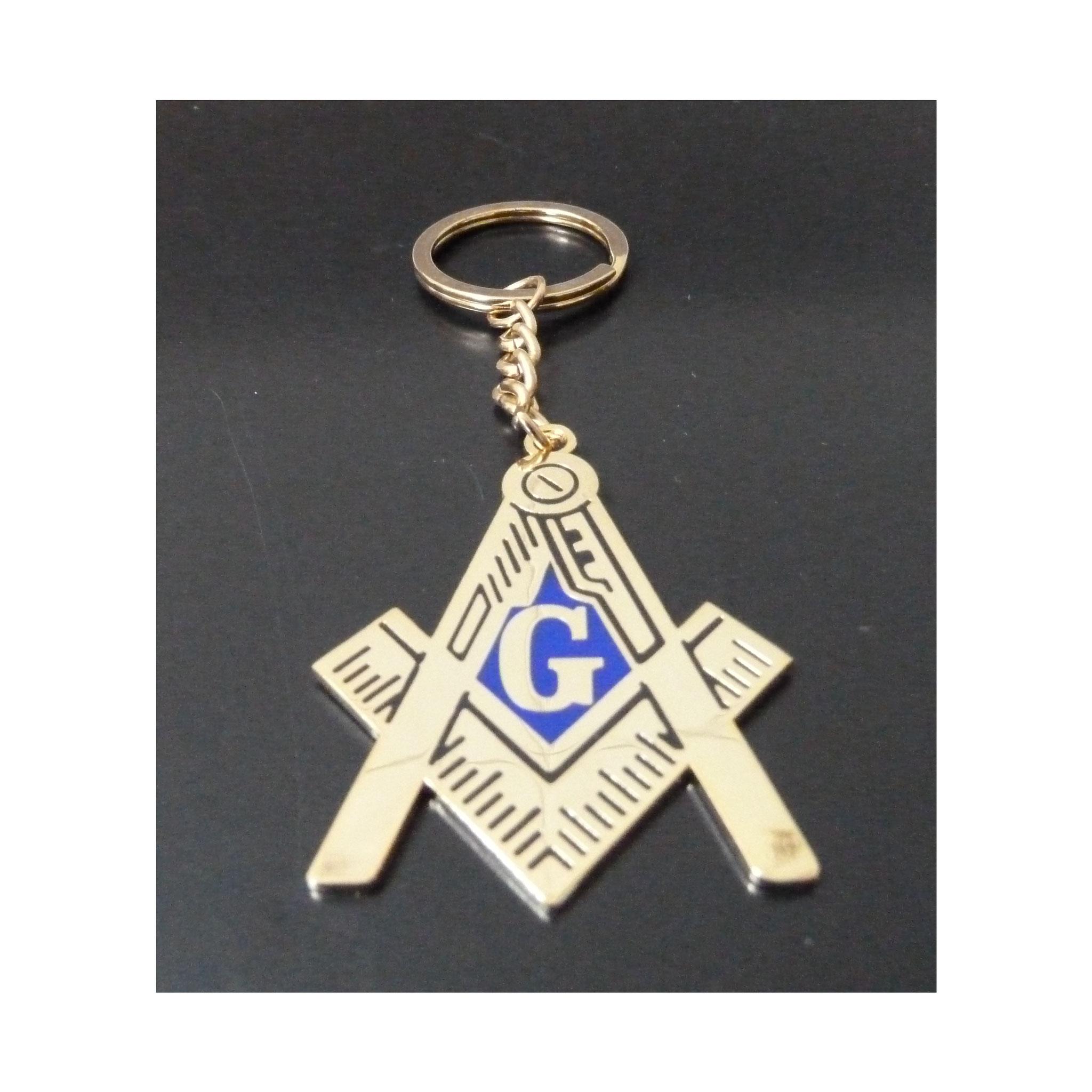 Porte-clés avec symbole maçonnique