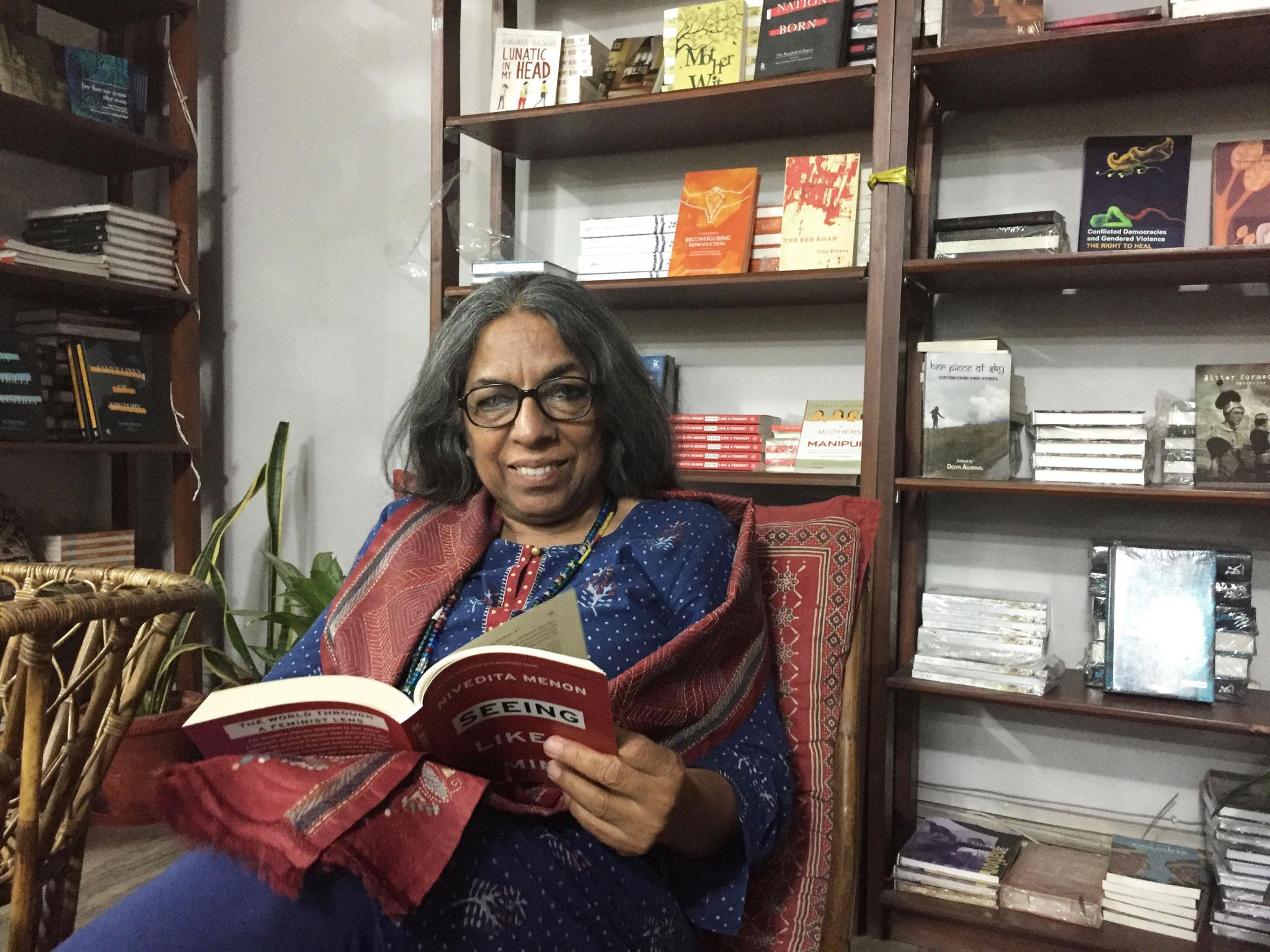Verlegerin Urvashi Butalia kämpft für die Rechte der Frauen. Foto: Ludwig