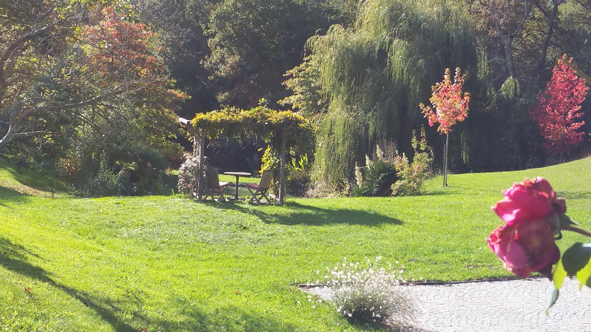 domaine de Millox, vue jardin et pergola