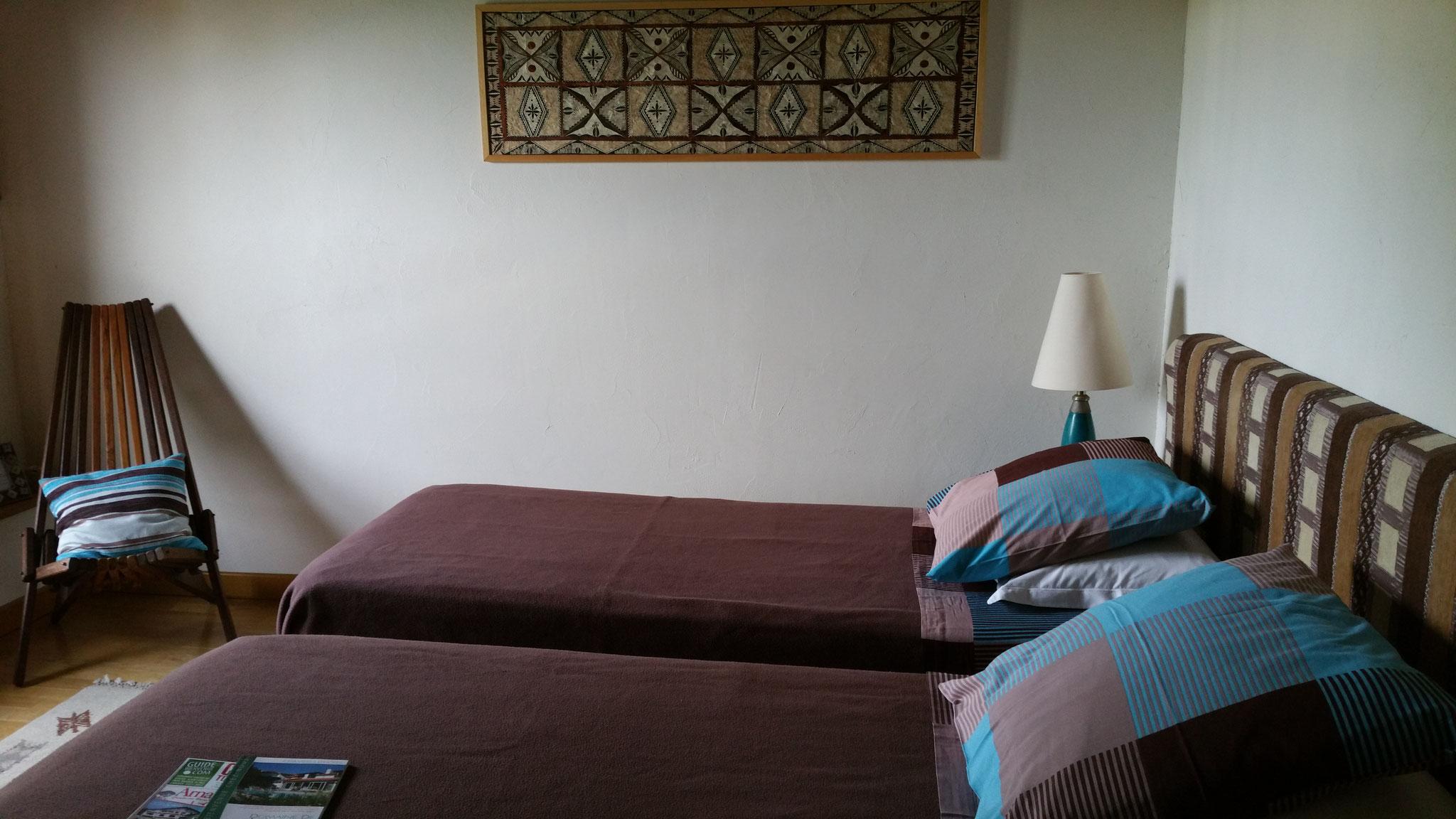 domaine de Millox, chambre Moutouchi avec lits jumeaux