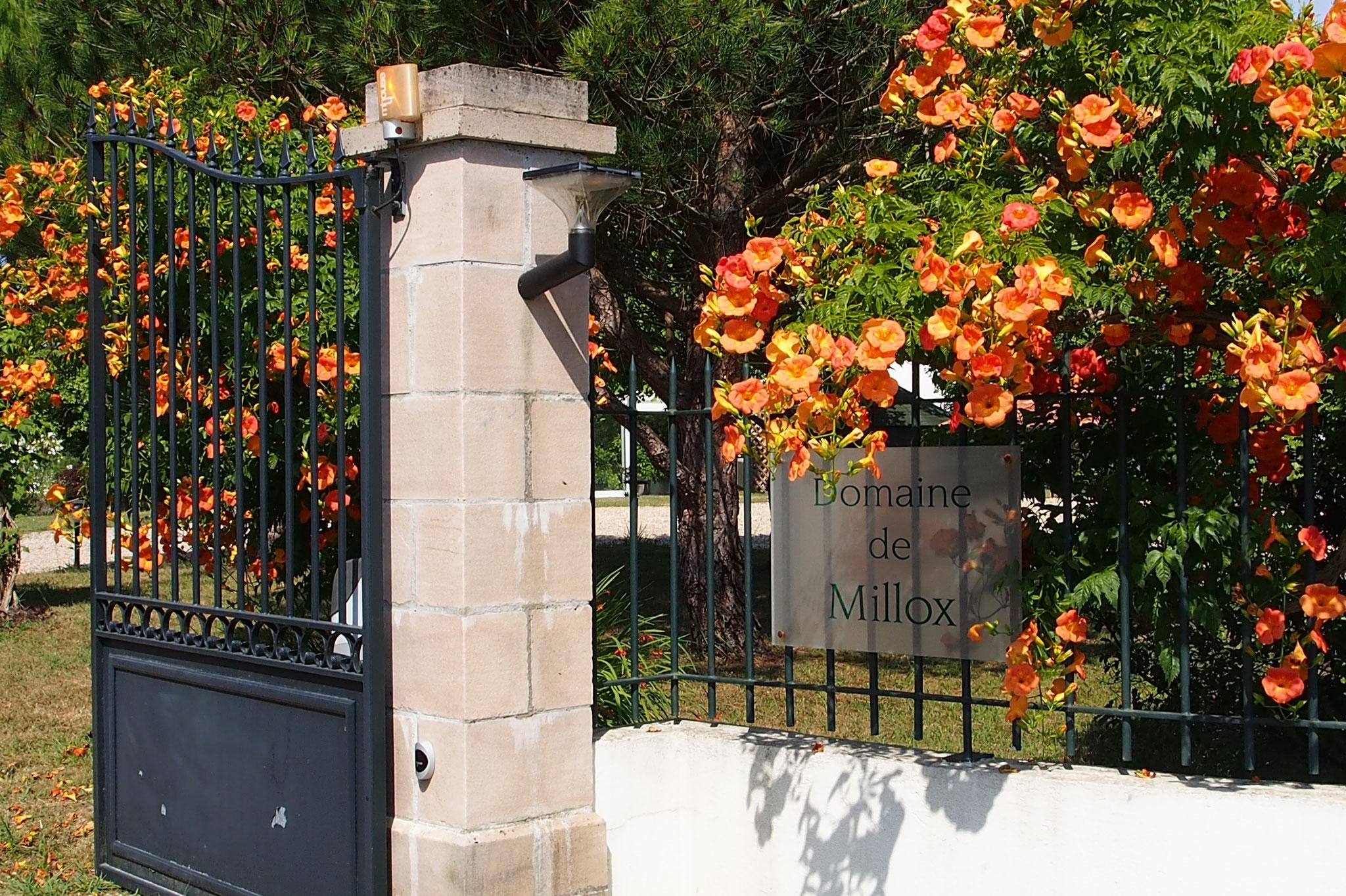 domaine de Millox, entrée de la propriété