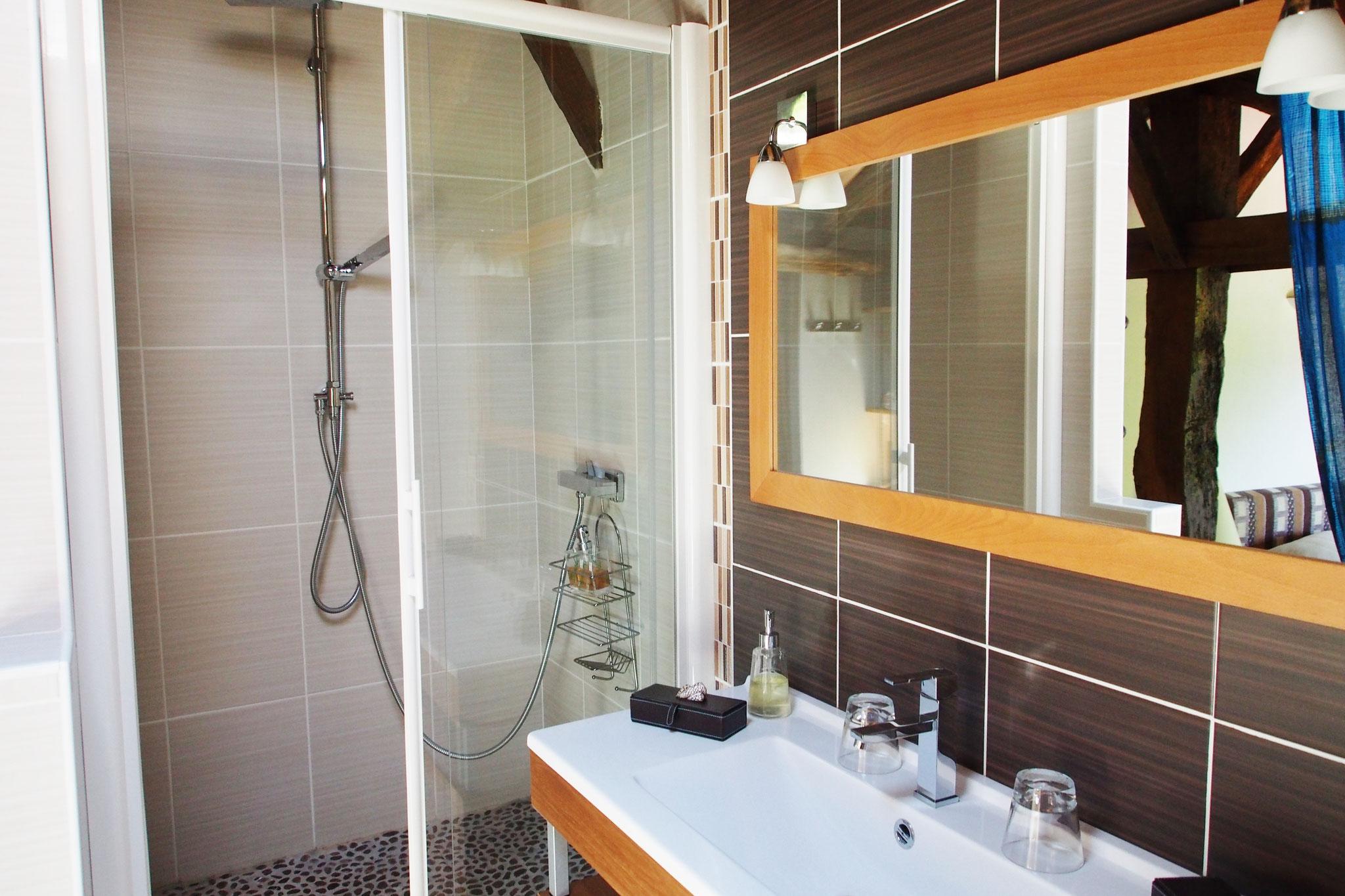 chambre Moutouchi, salle de douche