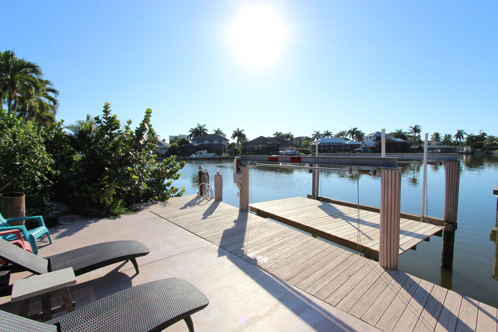 Unser Ferienhaus auf Marco Island / Bootsdeck