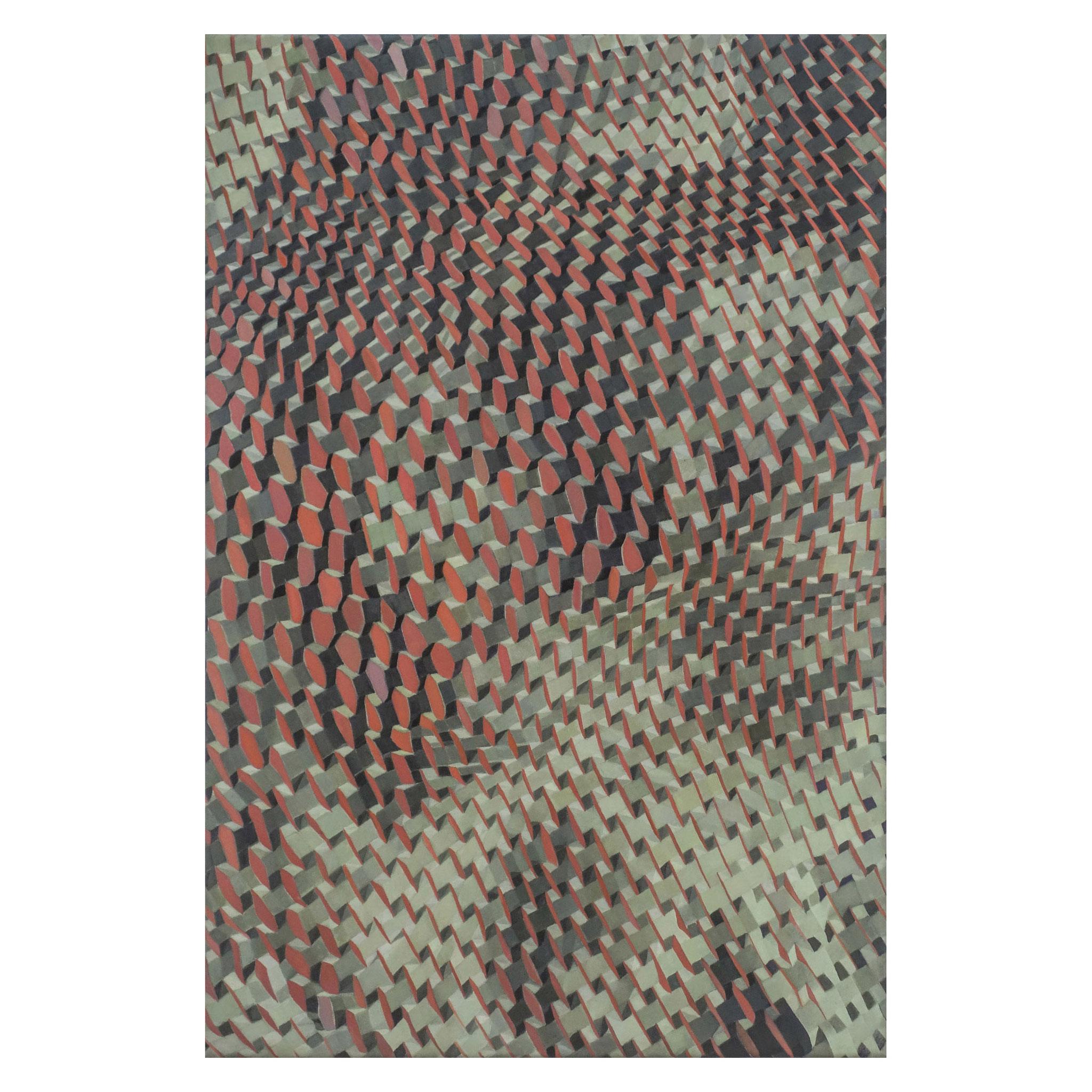 "Beate Selzer, ""UPCYCLING 4"", 2021, Öl auf Leinwand,  75 x 50 auf 18 cm"