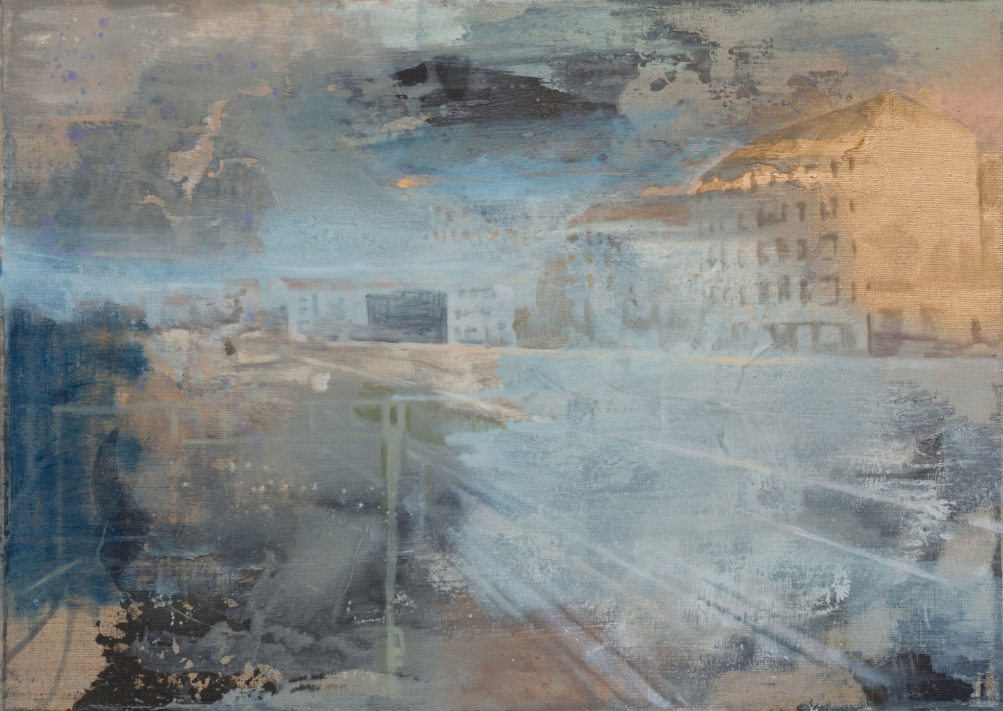 "Frauke Bohge, ""Woher kommst du?"", 2020, Öl auf Leinwand, 50 x 70 cm, VG Bild-Kunst"
