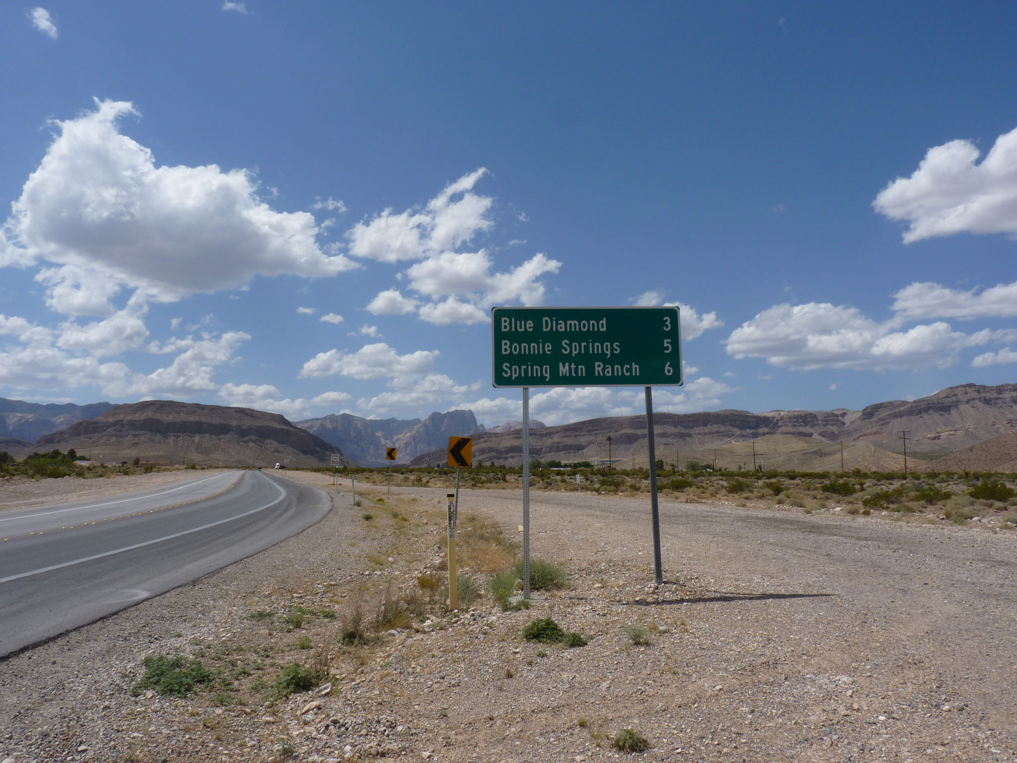Sur la route du Red Rock Canyon