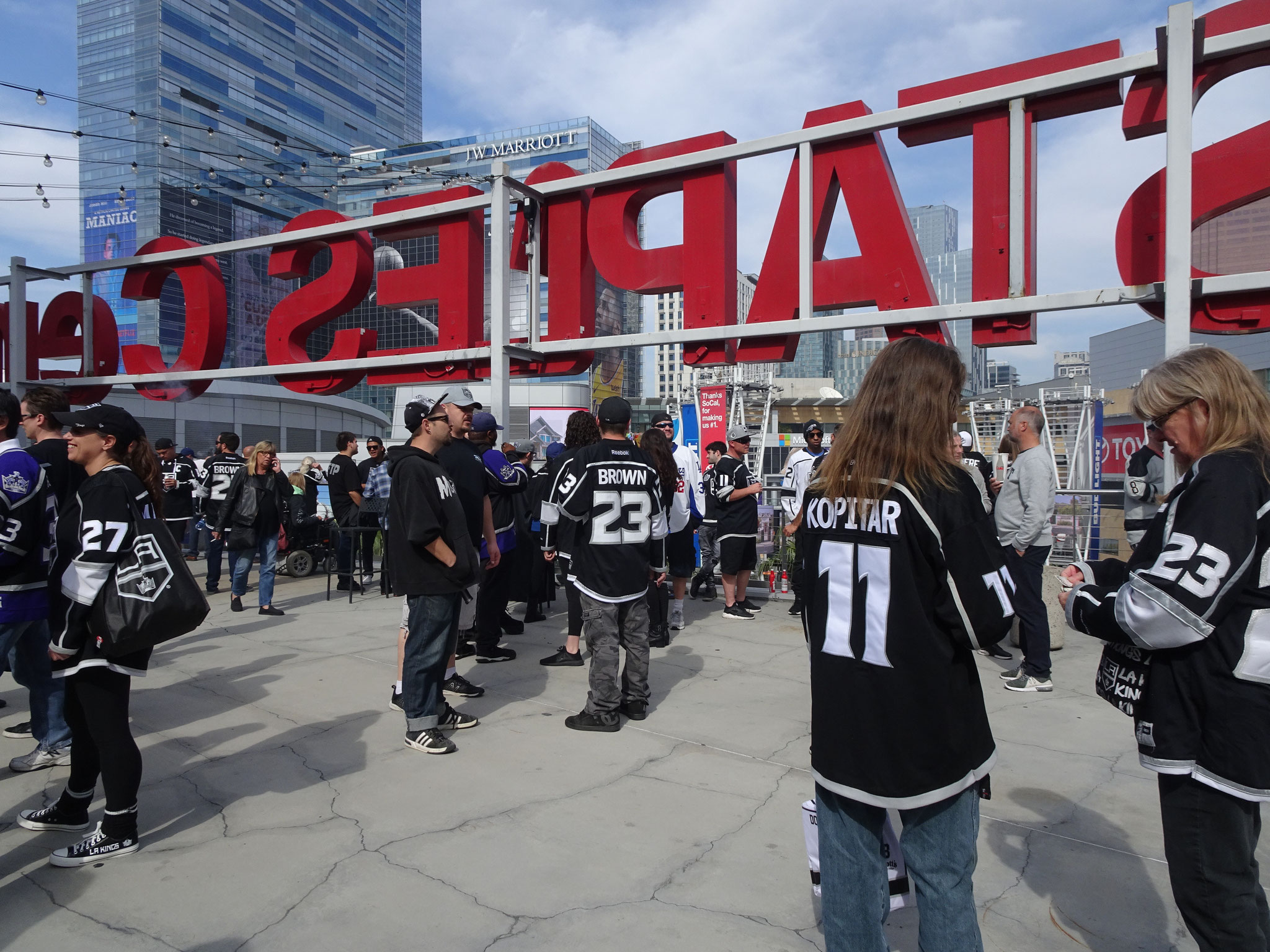 Terrasse du Staples Center lors de Los Angeles Kings vs New York Rangers