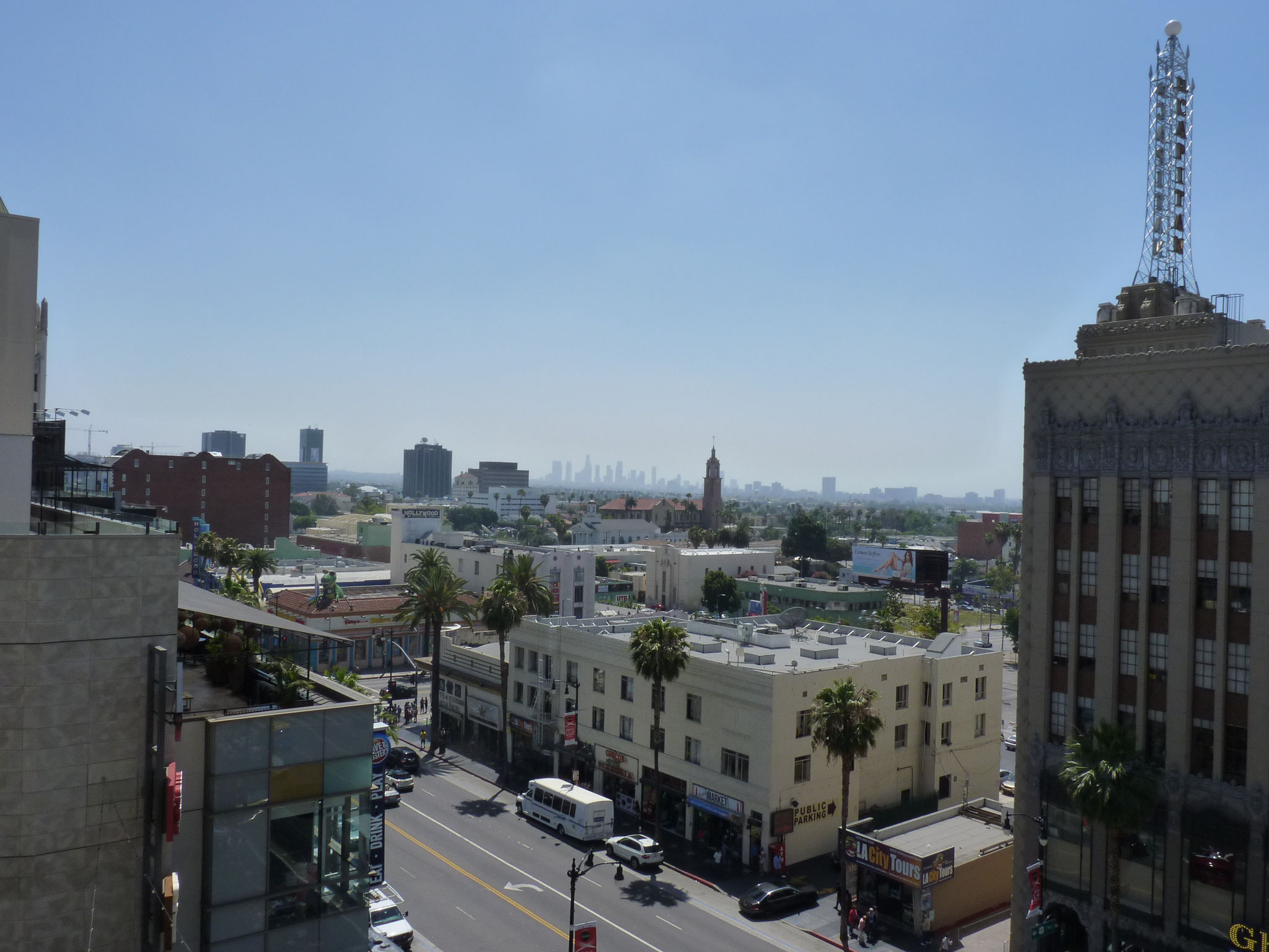 Downtown de LA vu d'Hollywood