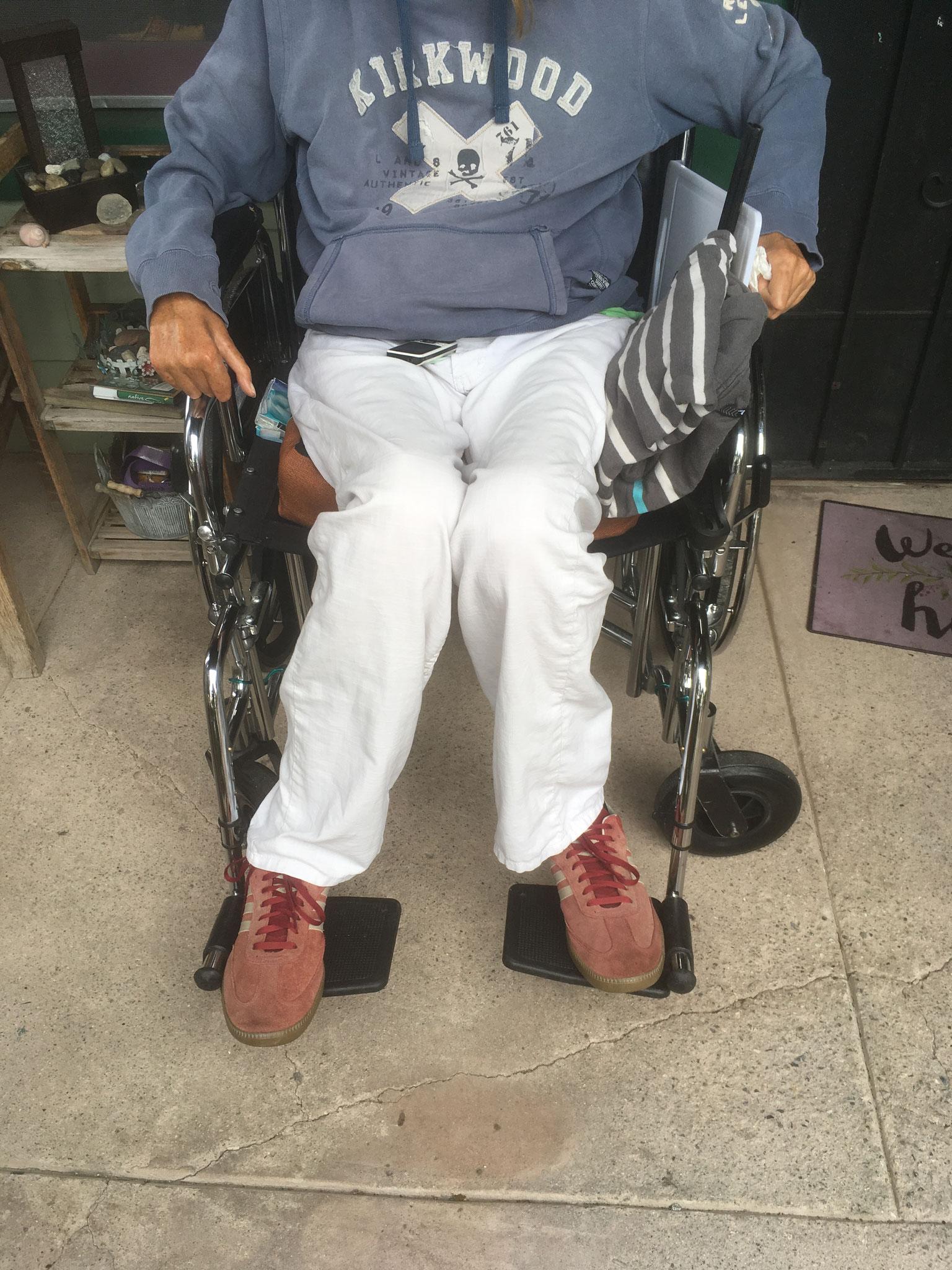 Sur mon wheelchair « canapé « d'aéroport