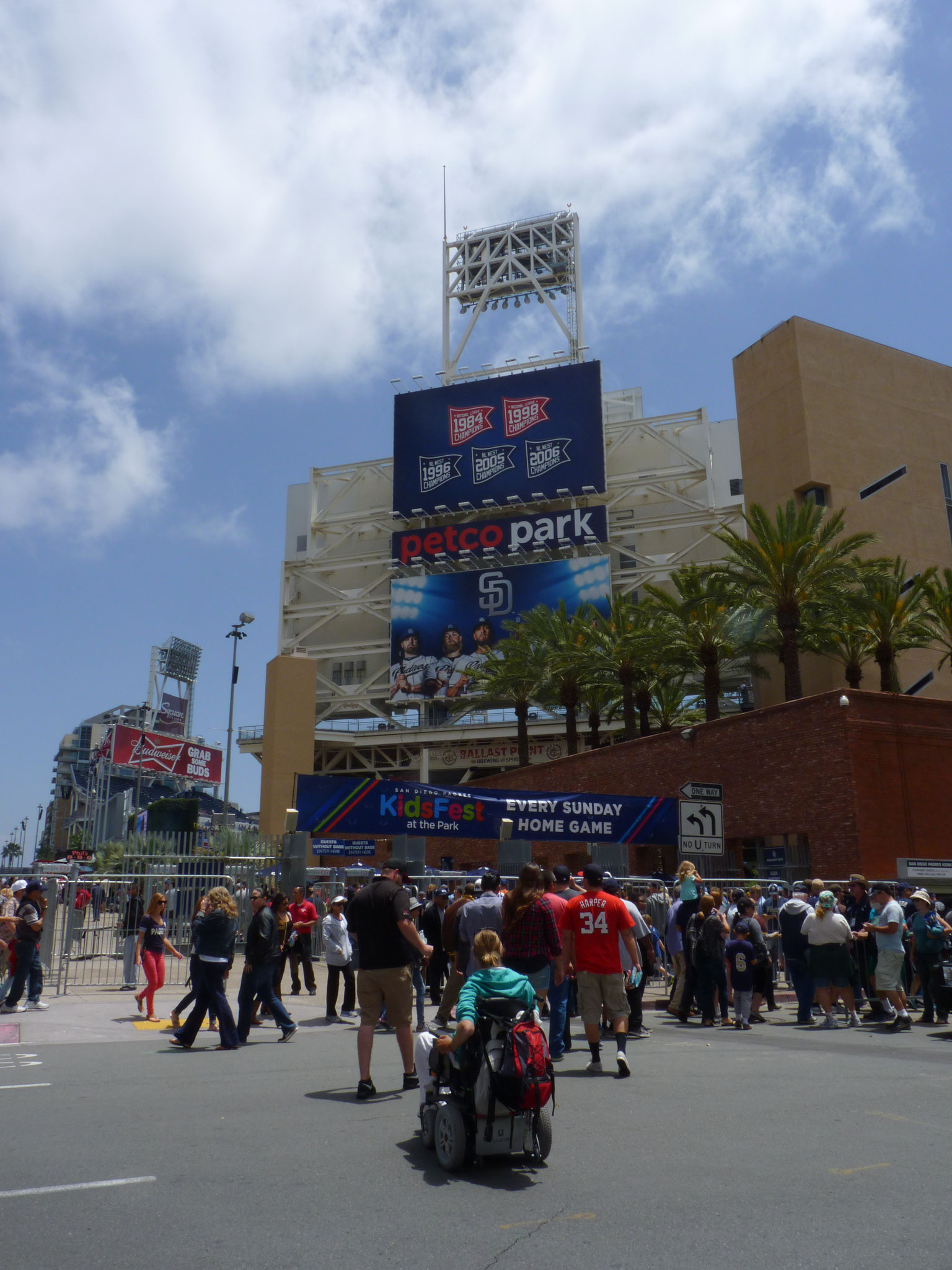 Entrée du Petco Park : San Diego Padres vs Washington Nationals (2015-16)