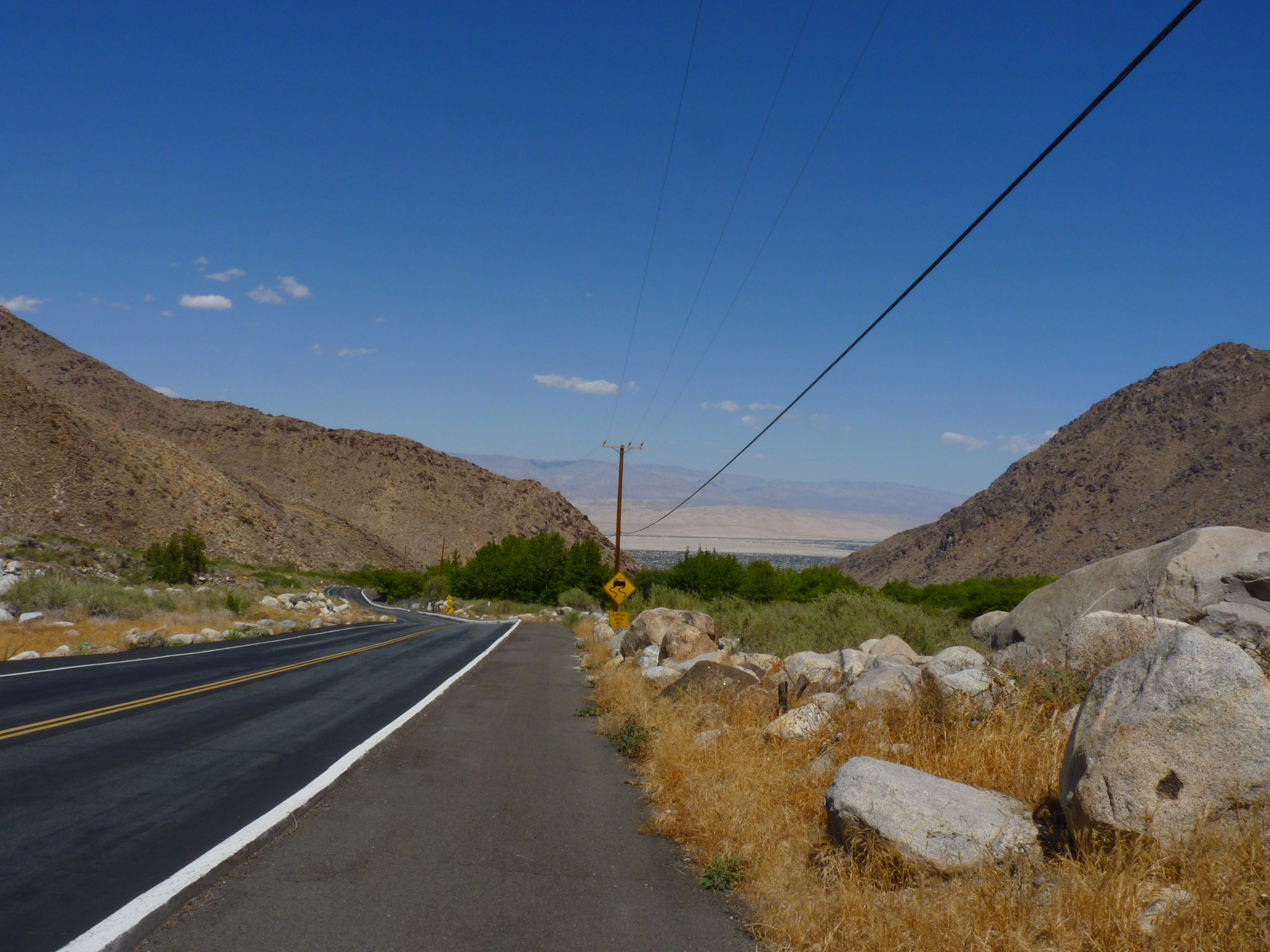 Sur la route de Palm Springs