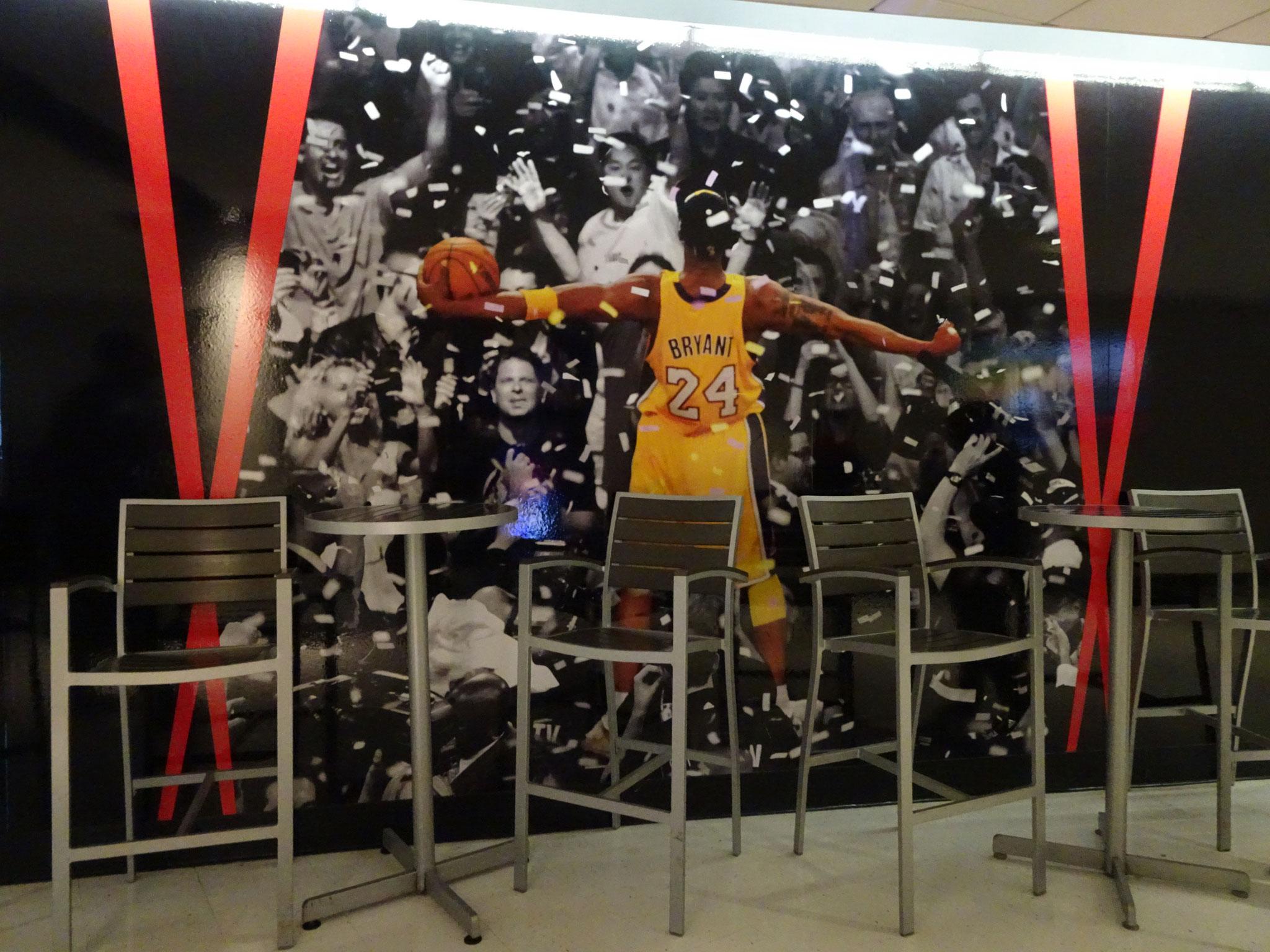 Dans les couloirs du Staples Center
