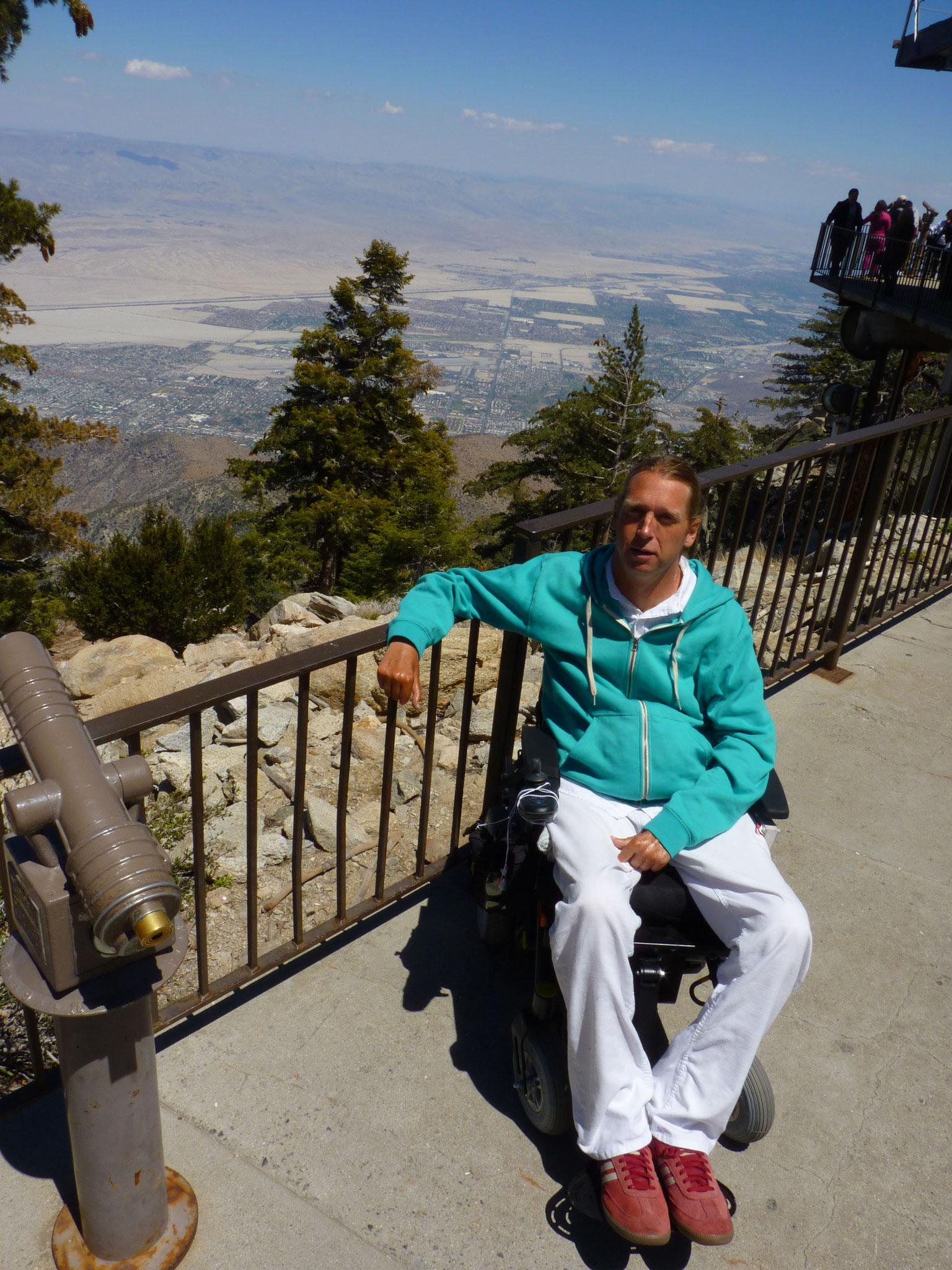 Vue sur la vallée de Coachella