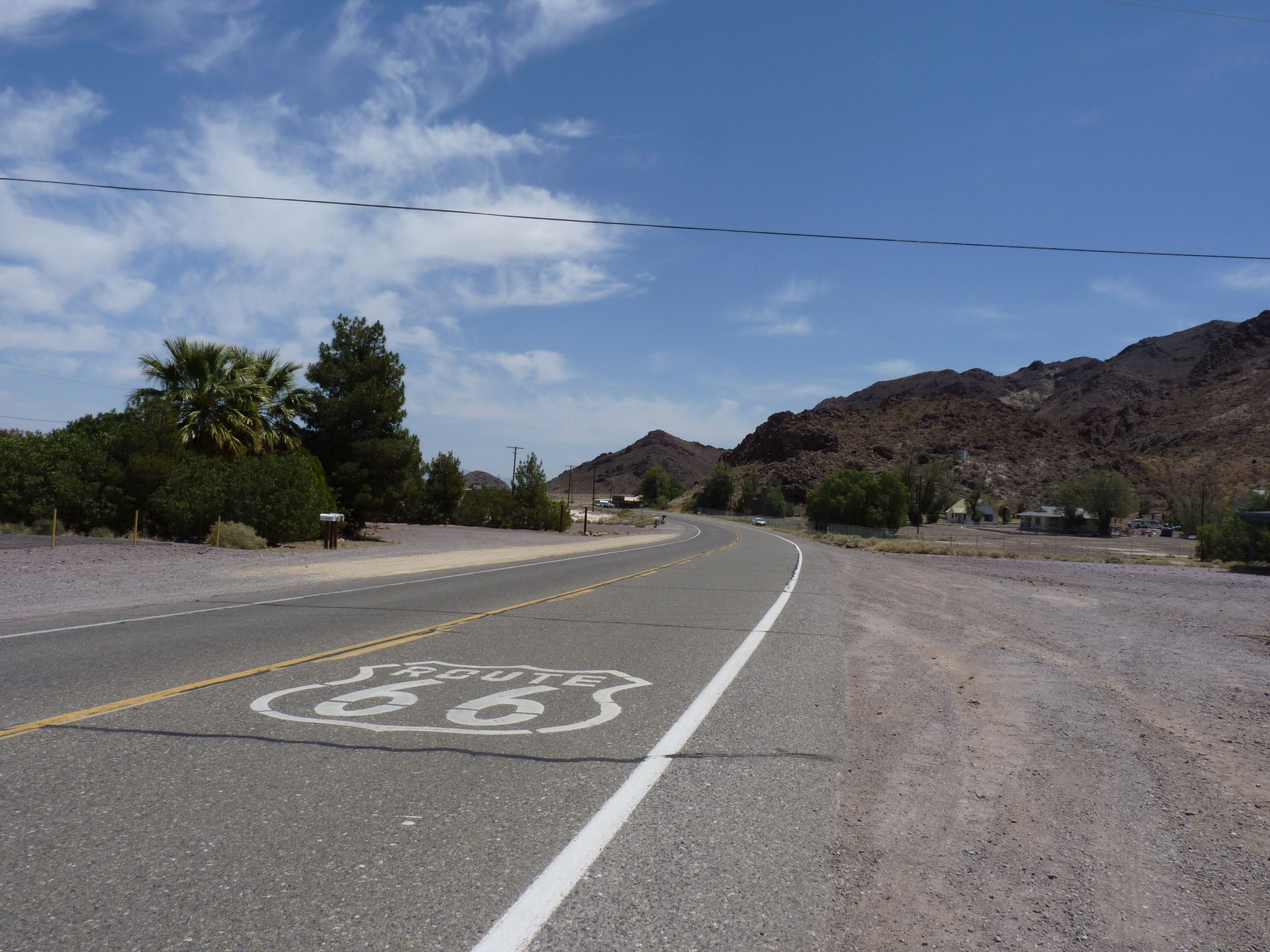 Chaleur sur la route 66 (Newberry Springs)