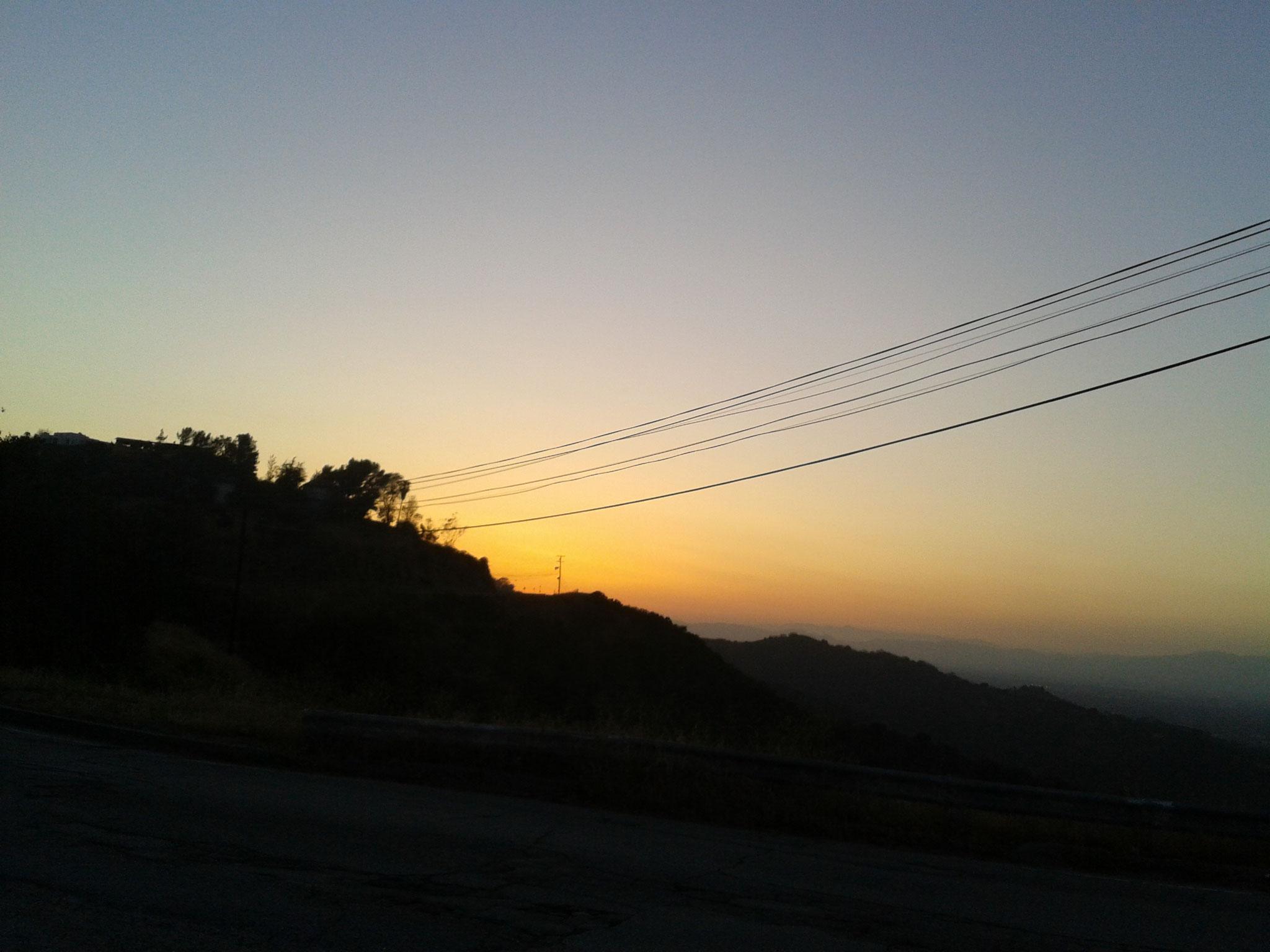 Coucher de soleil sur Mulholand Drive