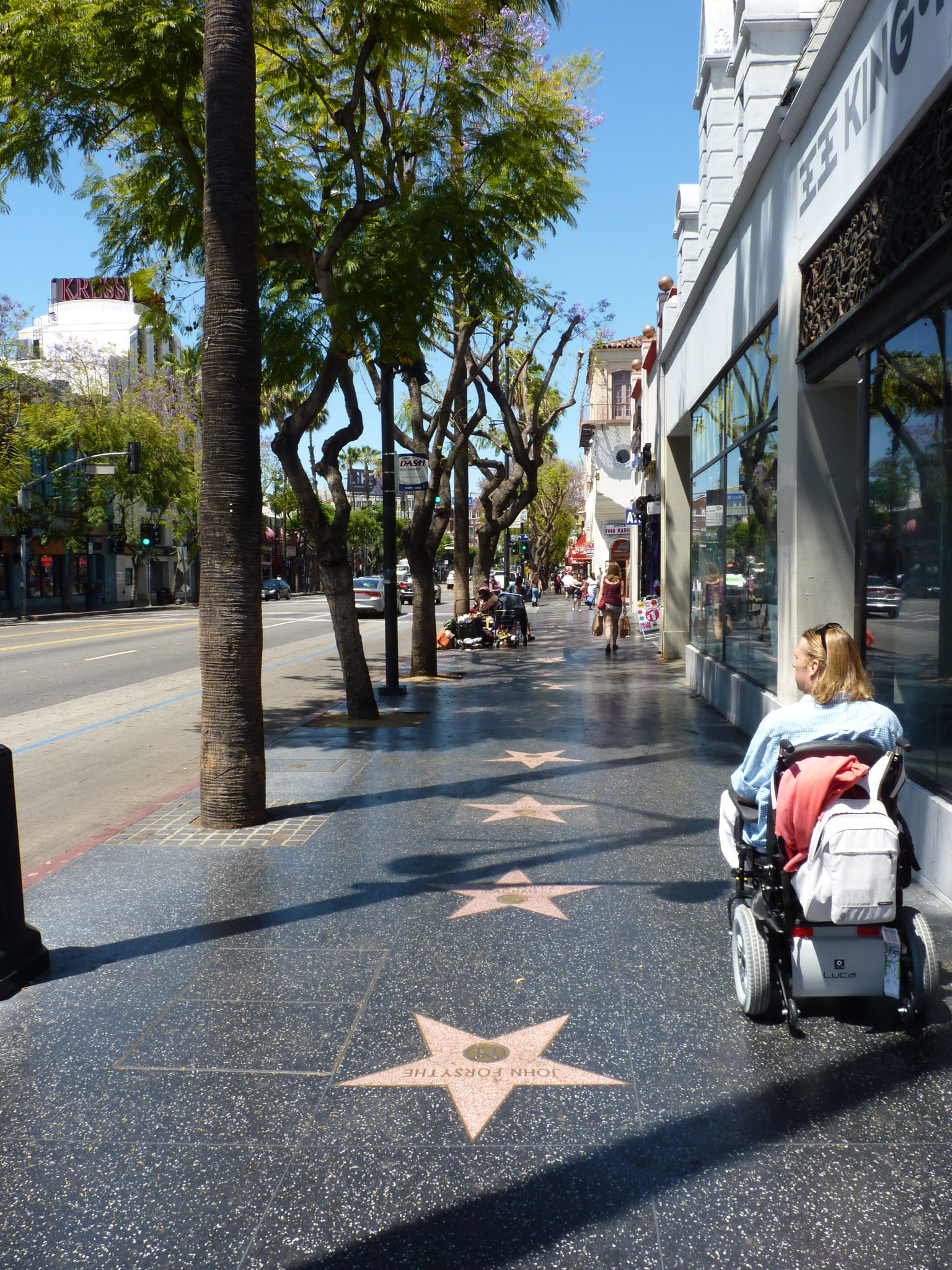 Excés de vitesse sur le Walk of Fame Hollywood