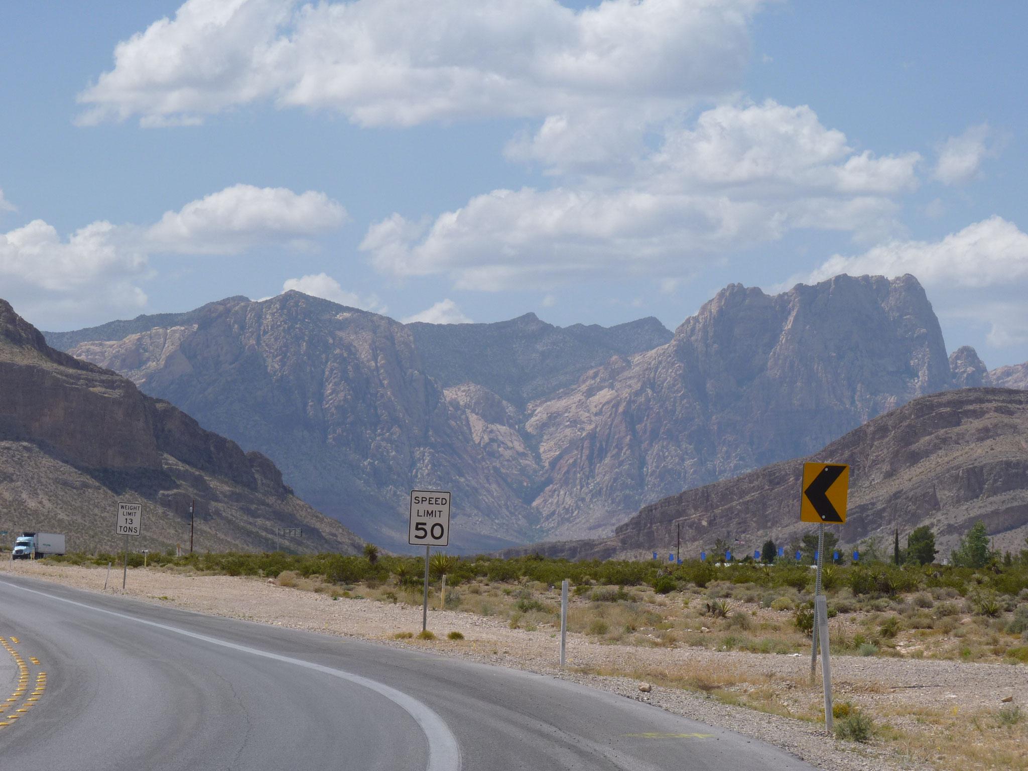 Vue sur le Red Rock Canyon