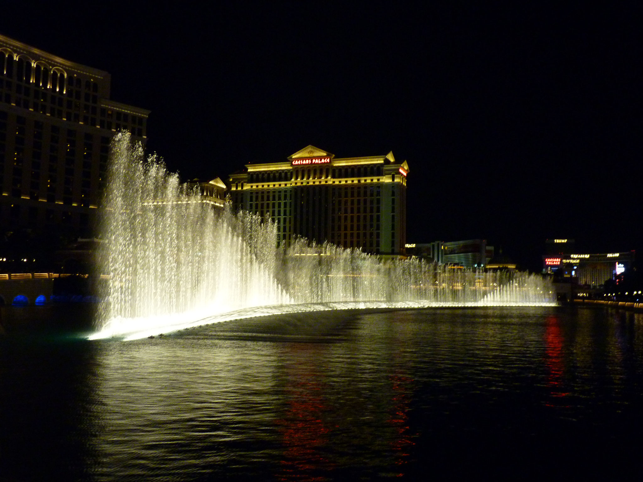 La fontaine du Bellagio sur Las Vegas Strip