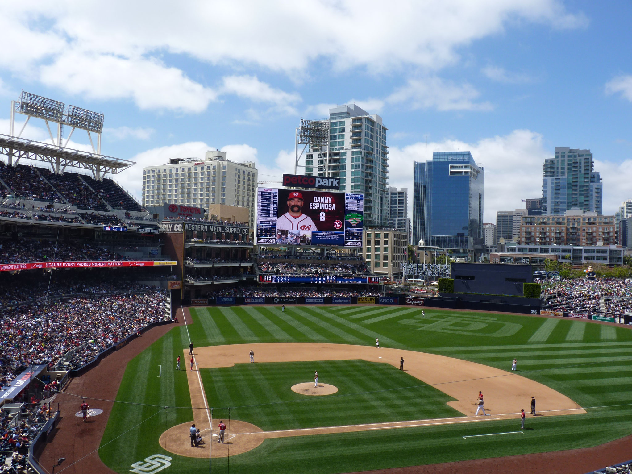 San Diego Padres vs Washington Nationals (2015-16)