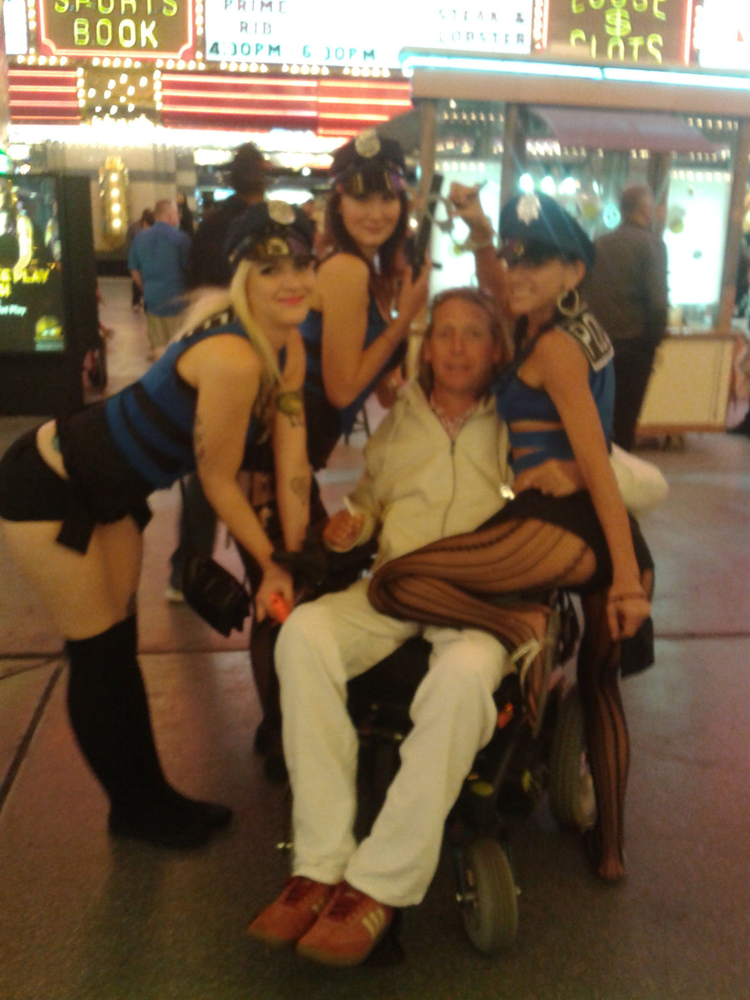Arrestation dans Fremont Street Las Vegas