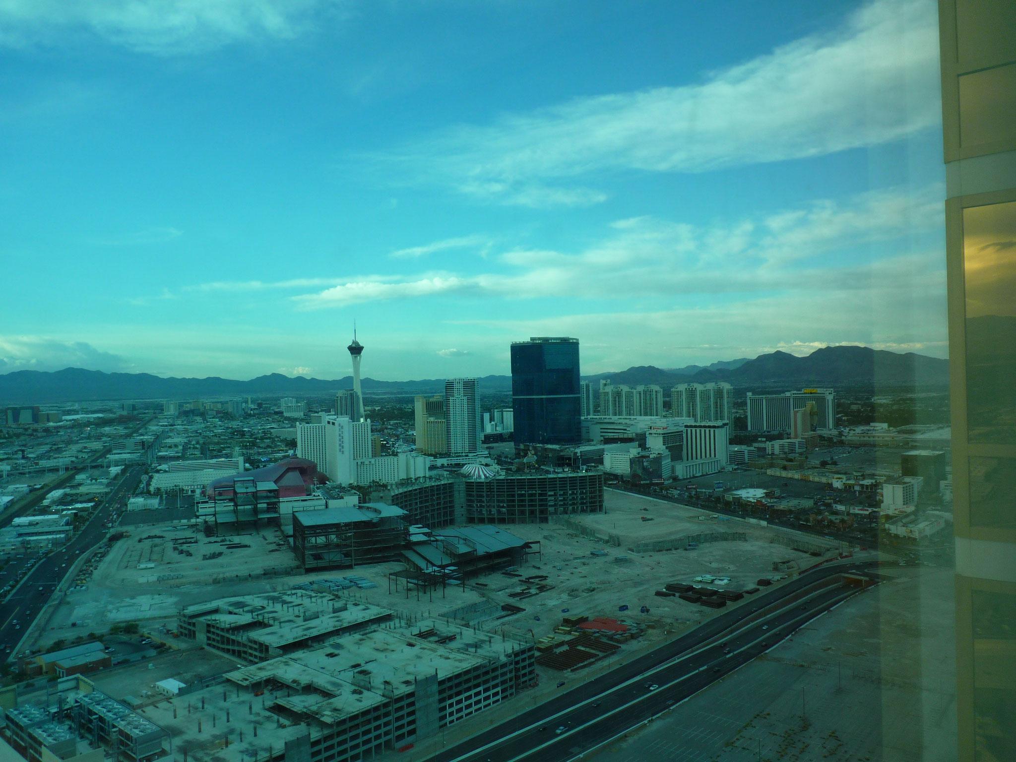 """Vue de la """"suite"""" du Trump Hotel de Vegas"""