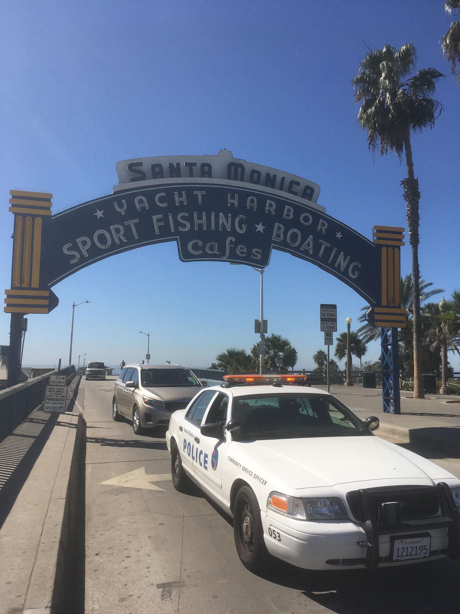 Entrée sur le Santa Monica Pier