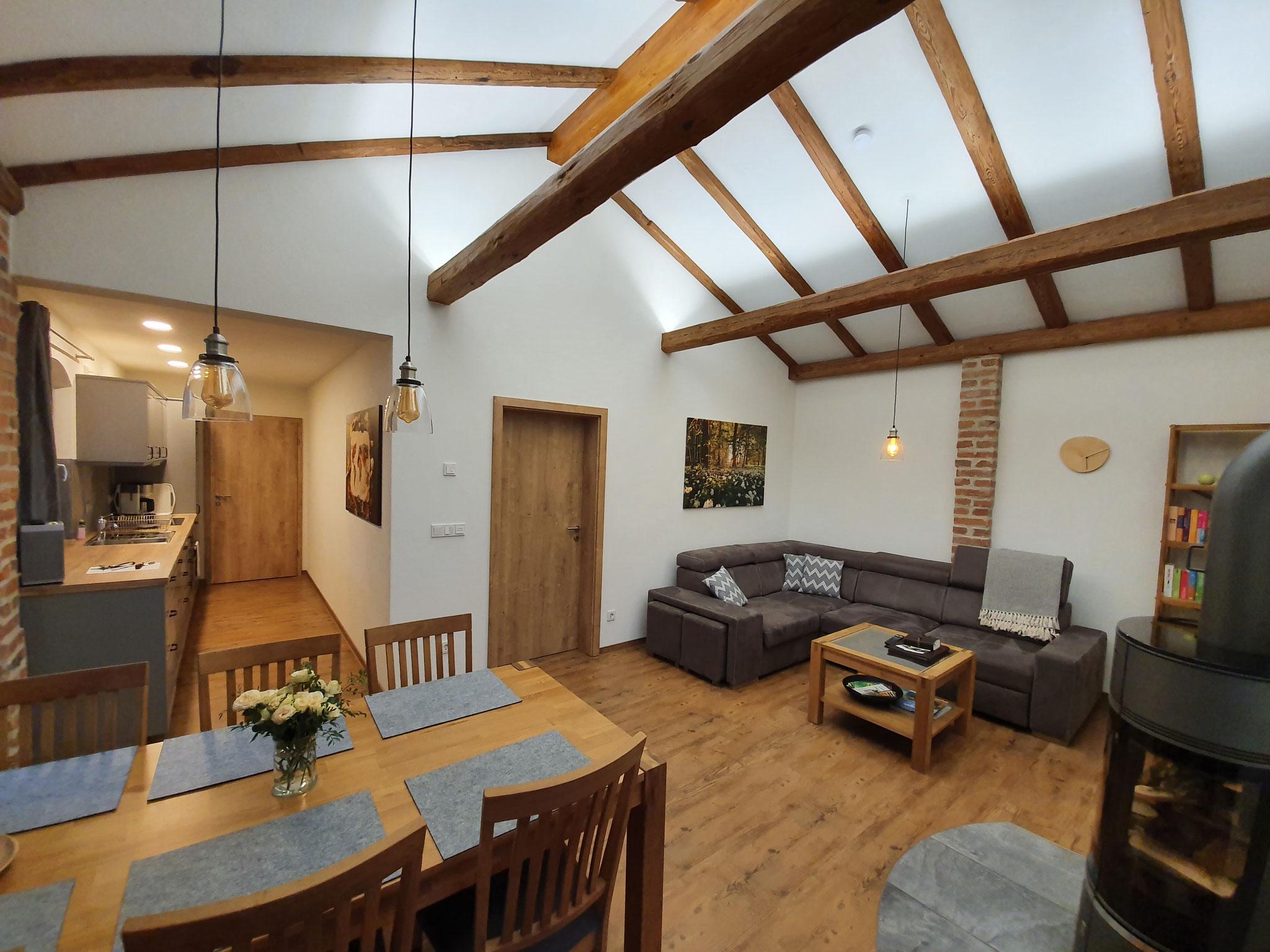 FeWo Landblick Wohnzimmer