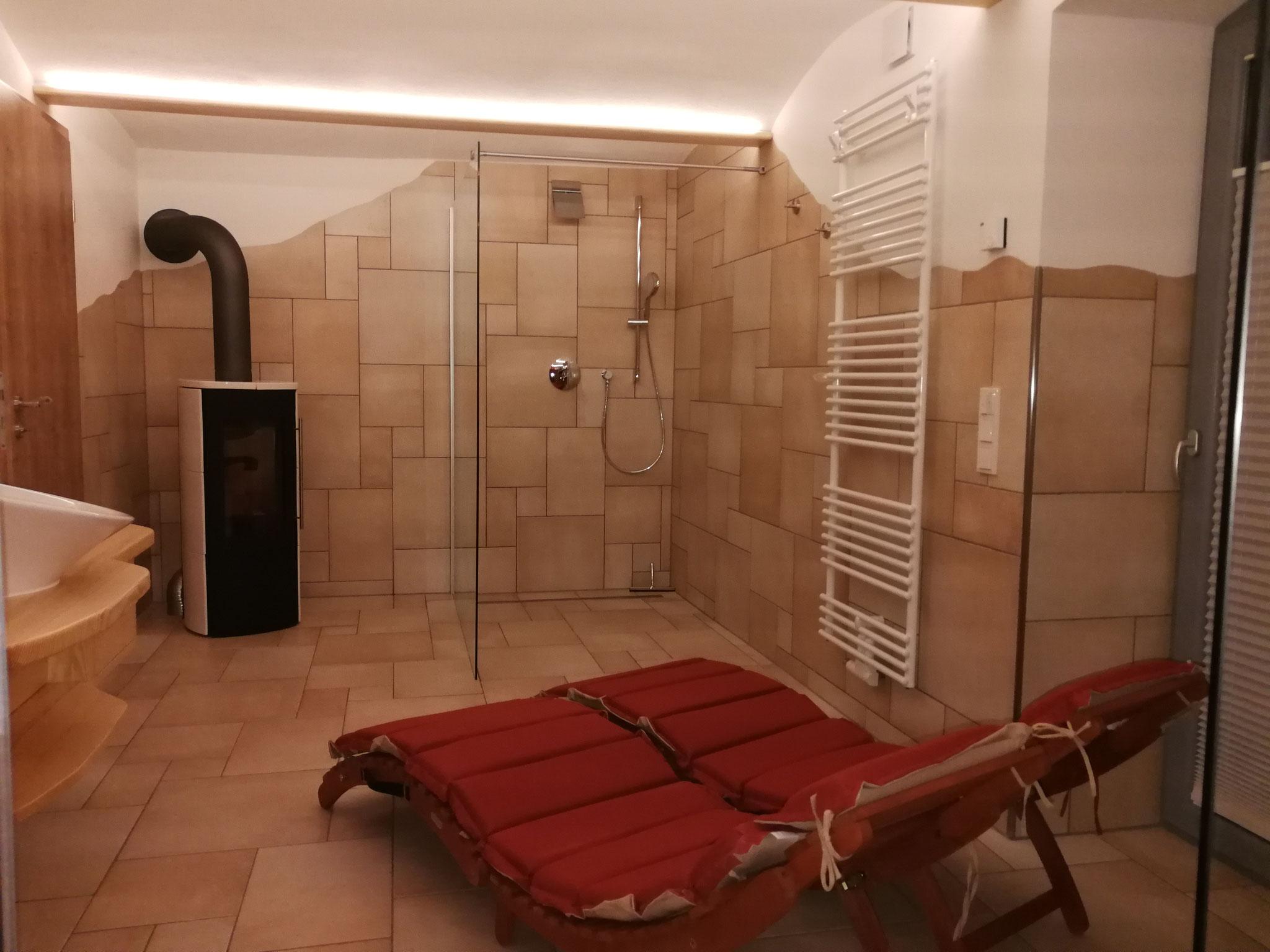 Ferienwohnung Wellness Dusche