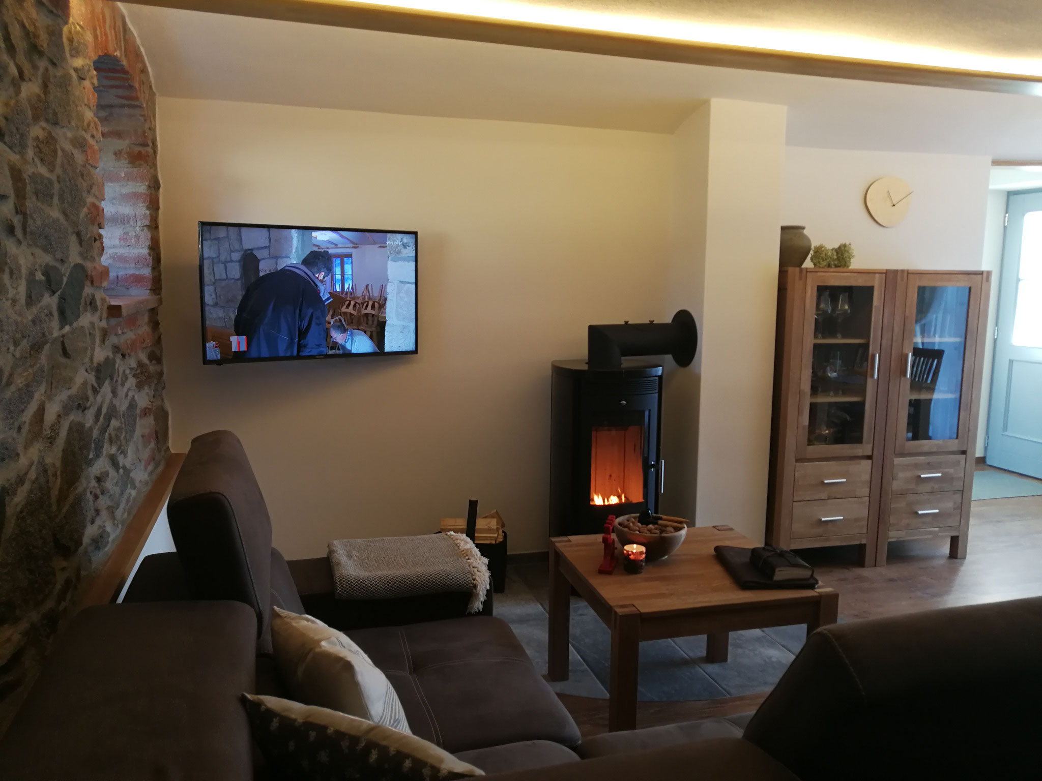 Ferienwohnung Wellness Wohnzimmer