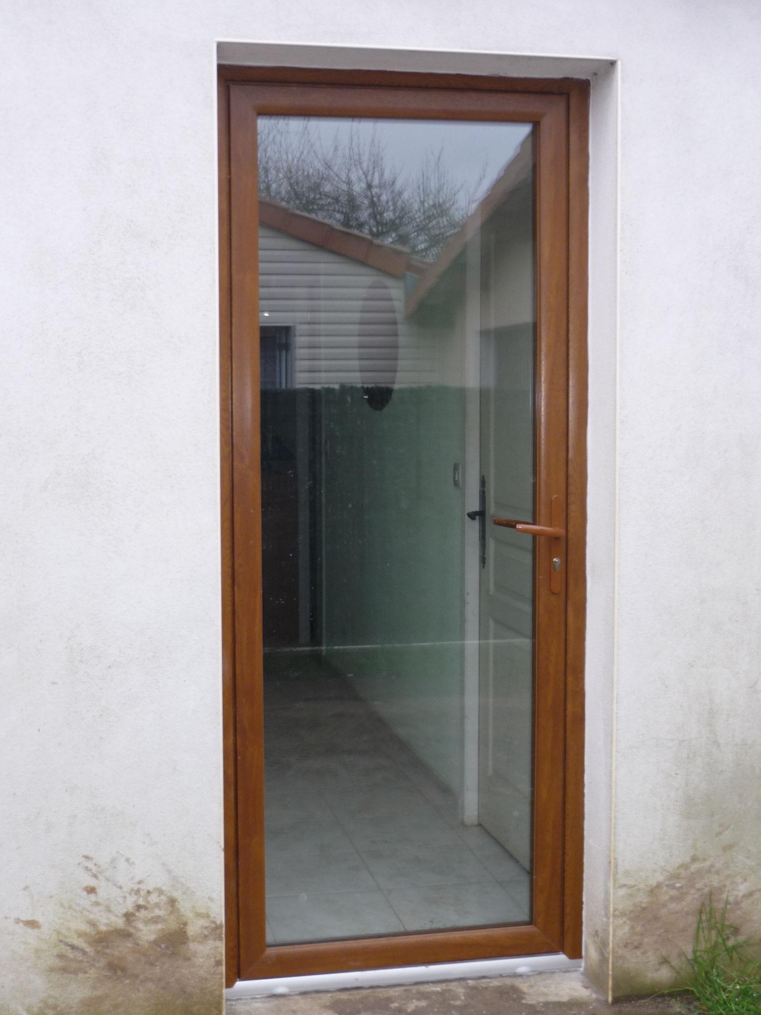 Porte fenêtre plaxé chêne panoramique