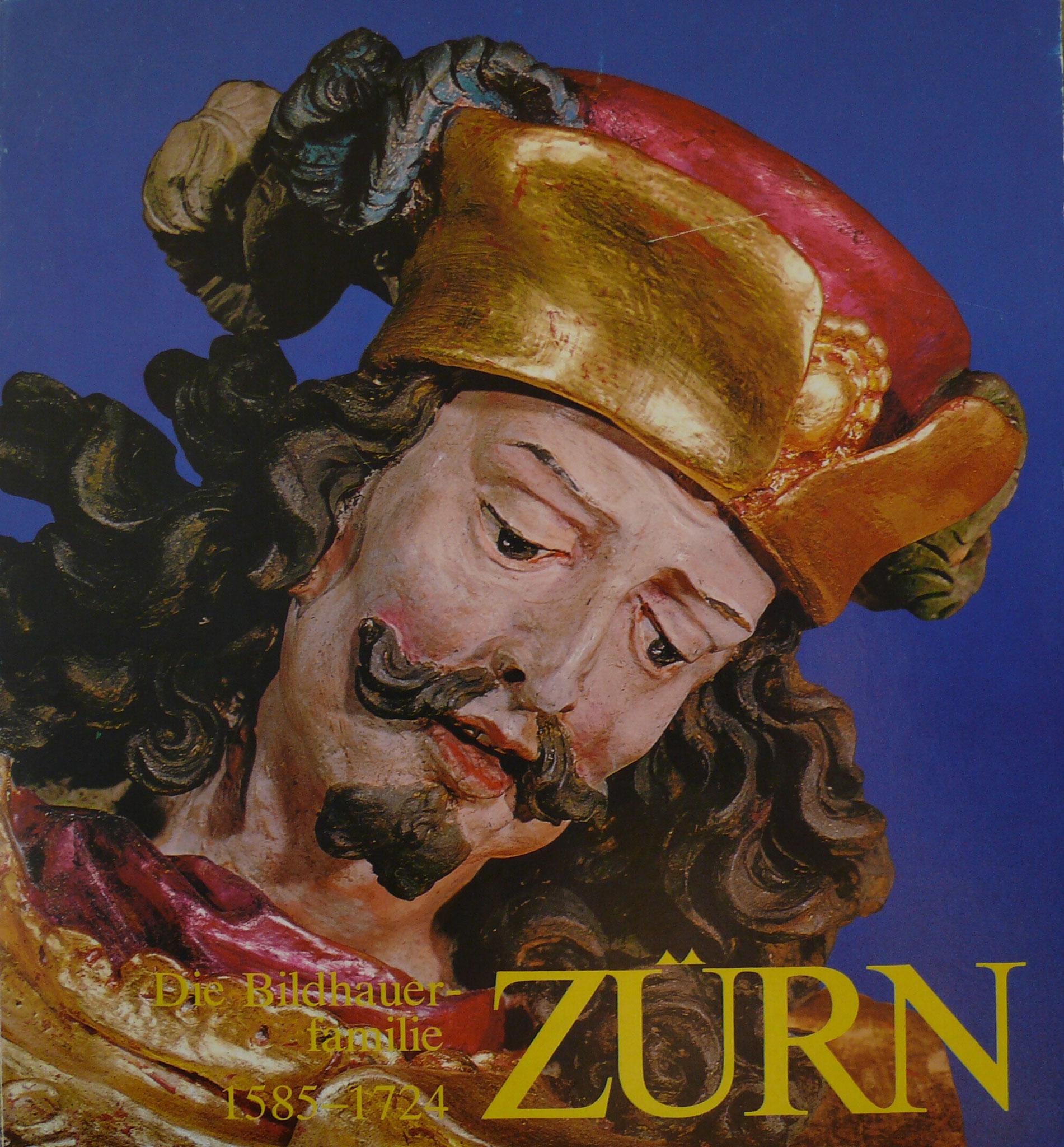 """Martin Zürn, Hl. Martin, Pfarrkirche Ried im Innkreis (Umschlagbild zum Katalog Ausstellung des Landes Oberösterreich 1979 """"Die Bildhauerfamilie Zürn"""""""
