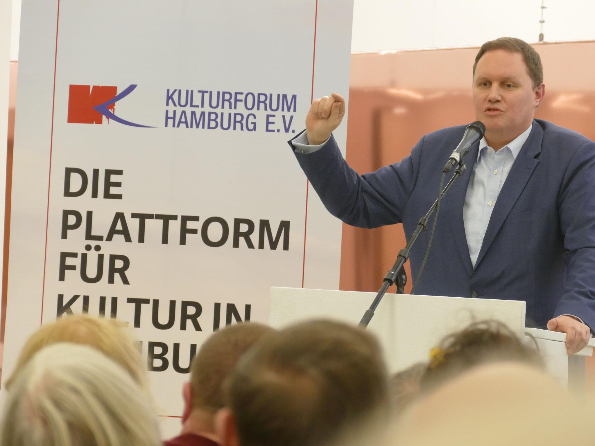 """Carsten Brosda spricht zum Thema 'Kuntsfreiheit'"""", 2019, Hamburger Kunstverein"""