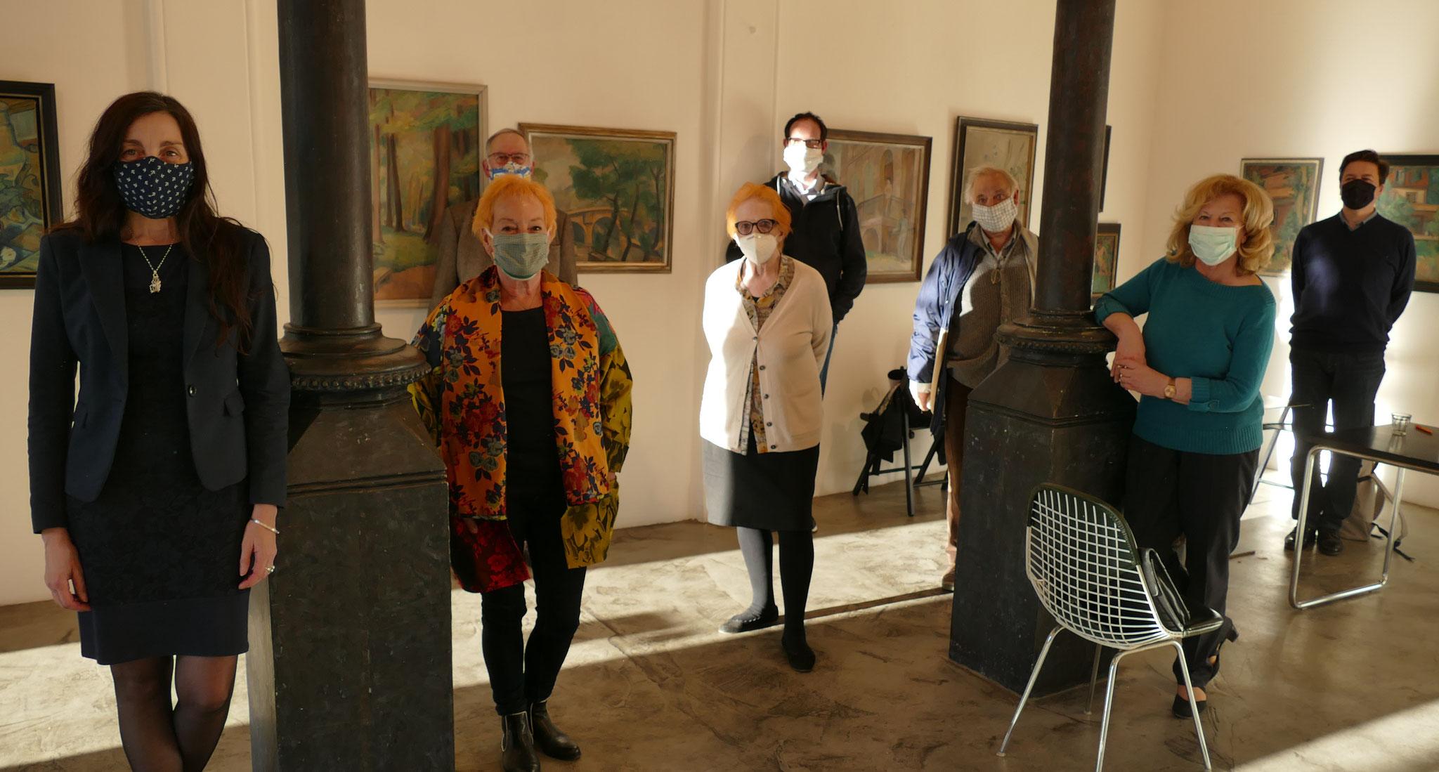 Vorstandssitzung des Kulturforums unter Coronabedingungen, 5. Mai 2020, Galerie Renate Kammer