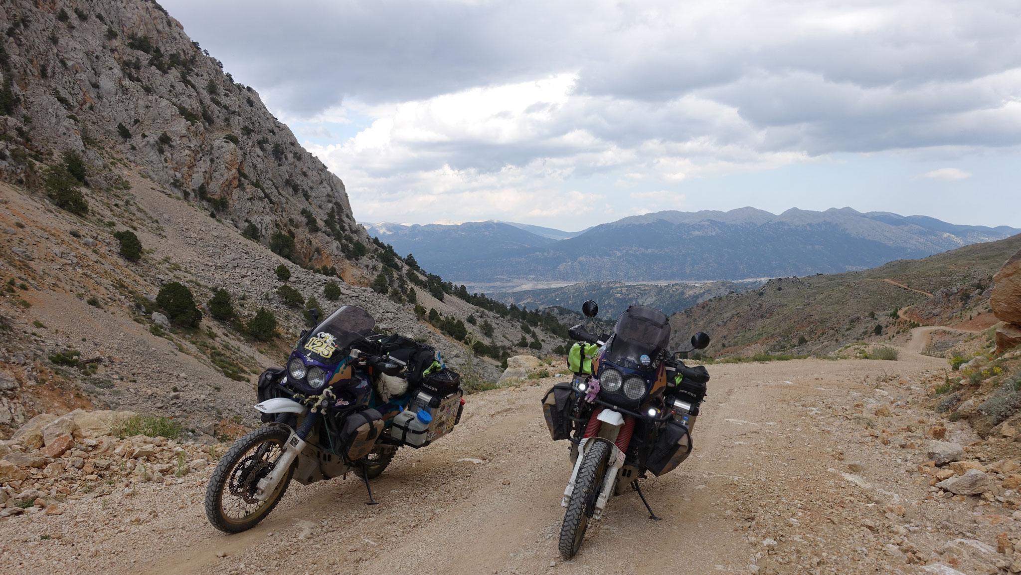 Auf dem Weg in die Berge...