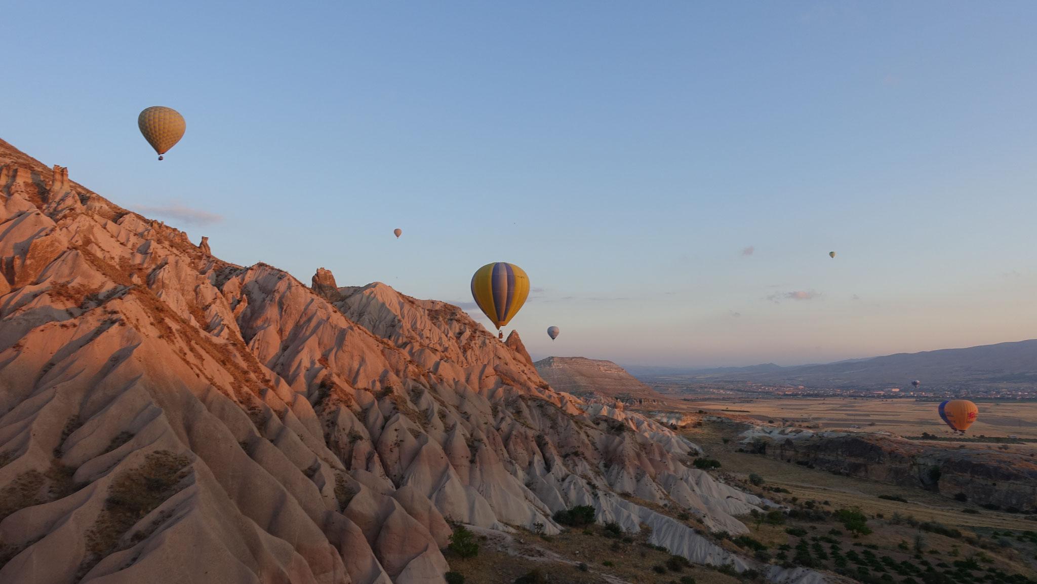 Gänsehaut pur bei der Ballonfahrt zum Sonnenaufgang