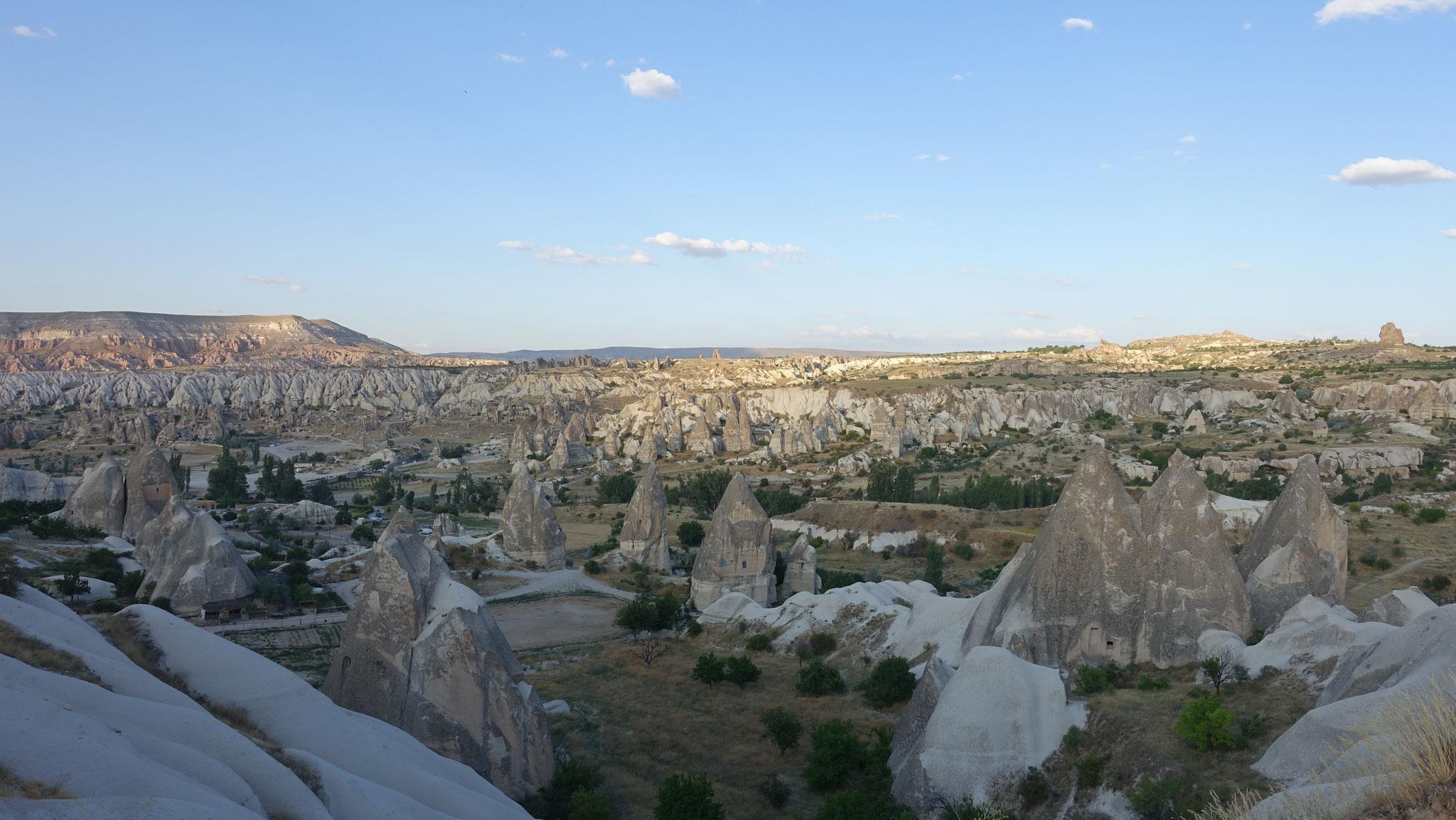 Unglaubliche Landschaft in Kappadokien