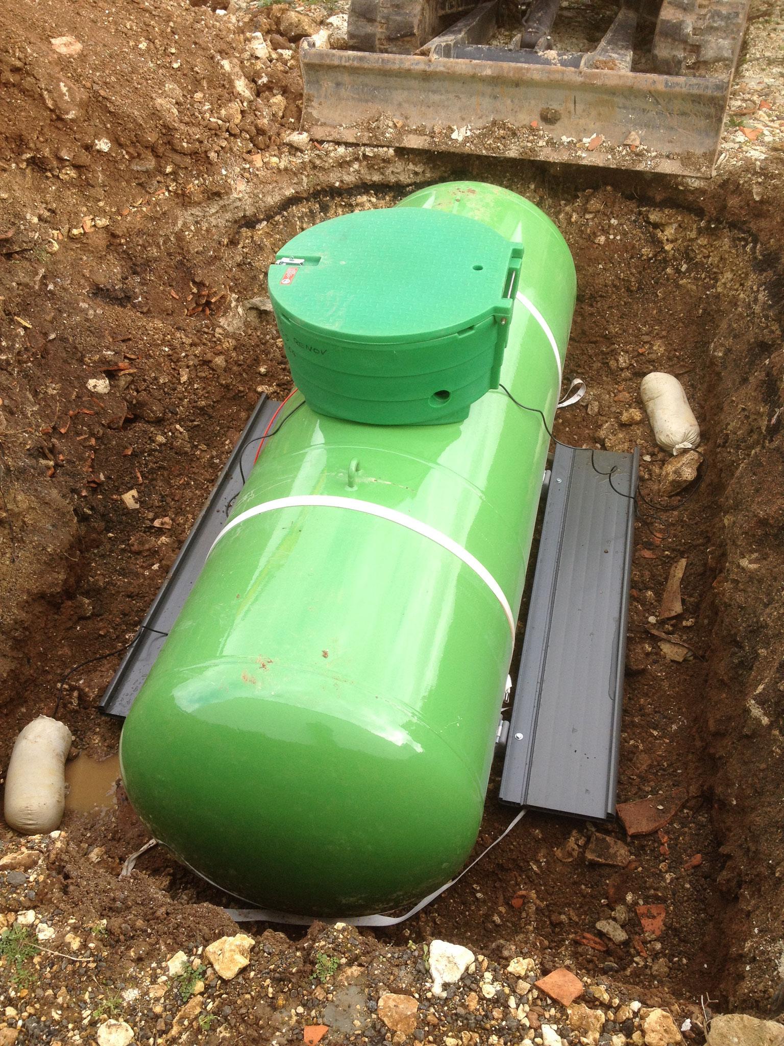 Installation d'une citerne gaz