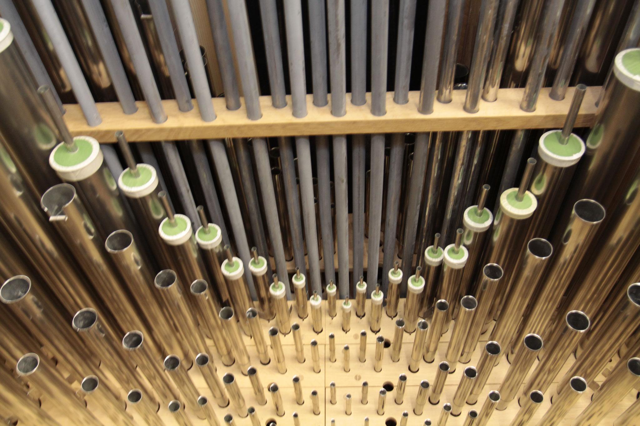 Flûte à cheminée mit noch-nicht-zugelöteten Deckeln (Photo: Franz Peters, Goch)