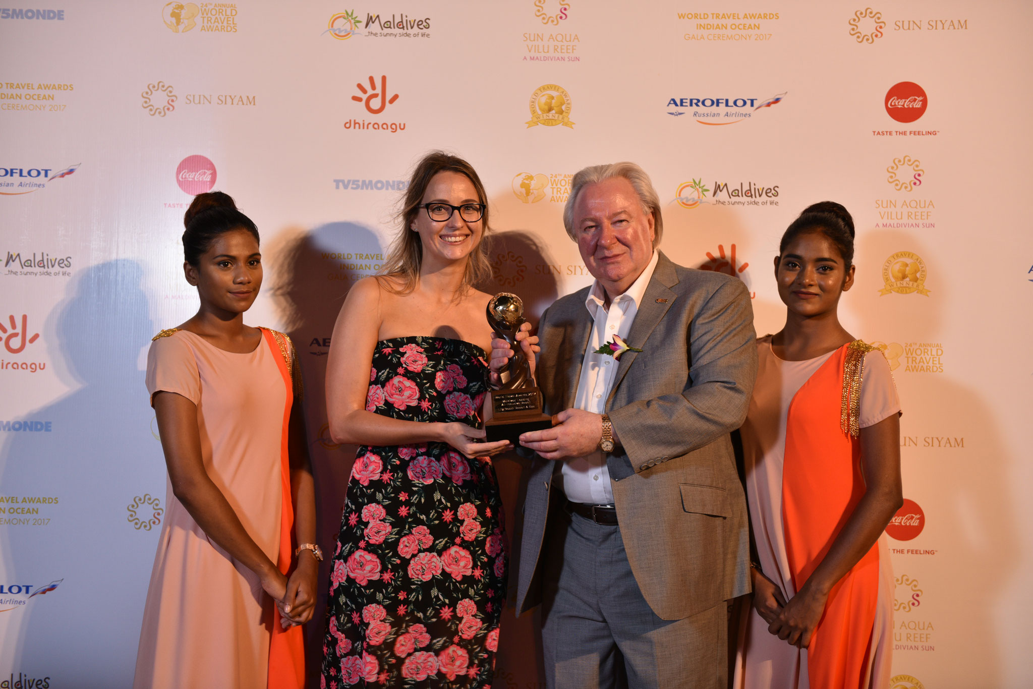 World Travel Award with Lily Beach Resort & Spa, Maldives