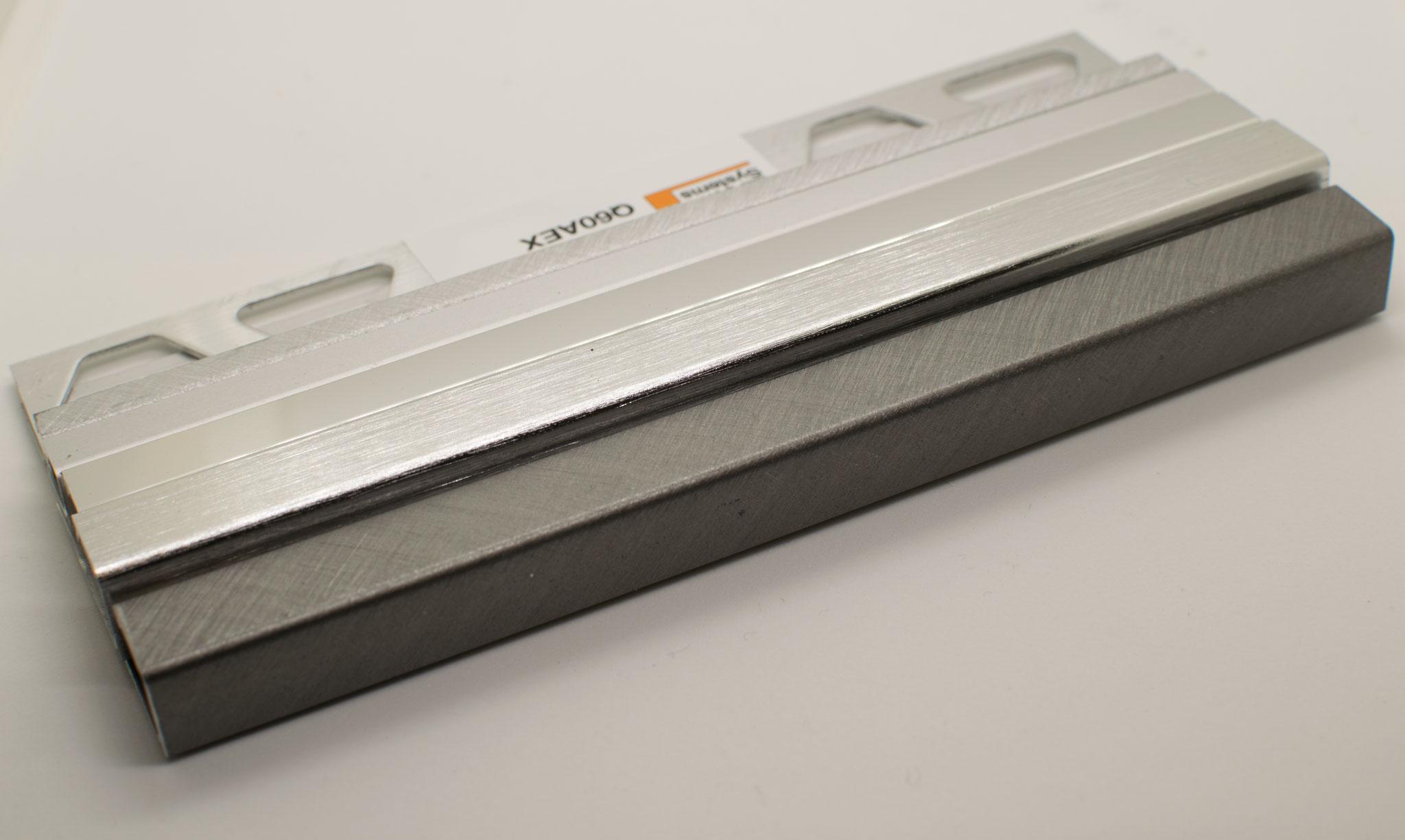 Aluminium matt, glänzend, gebürstet, kreuzgeschliffen - Innenbereich